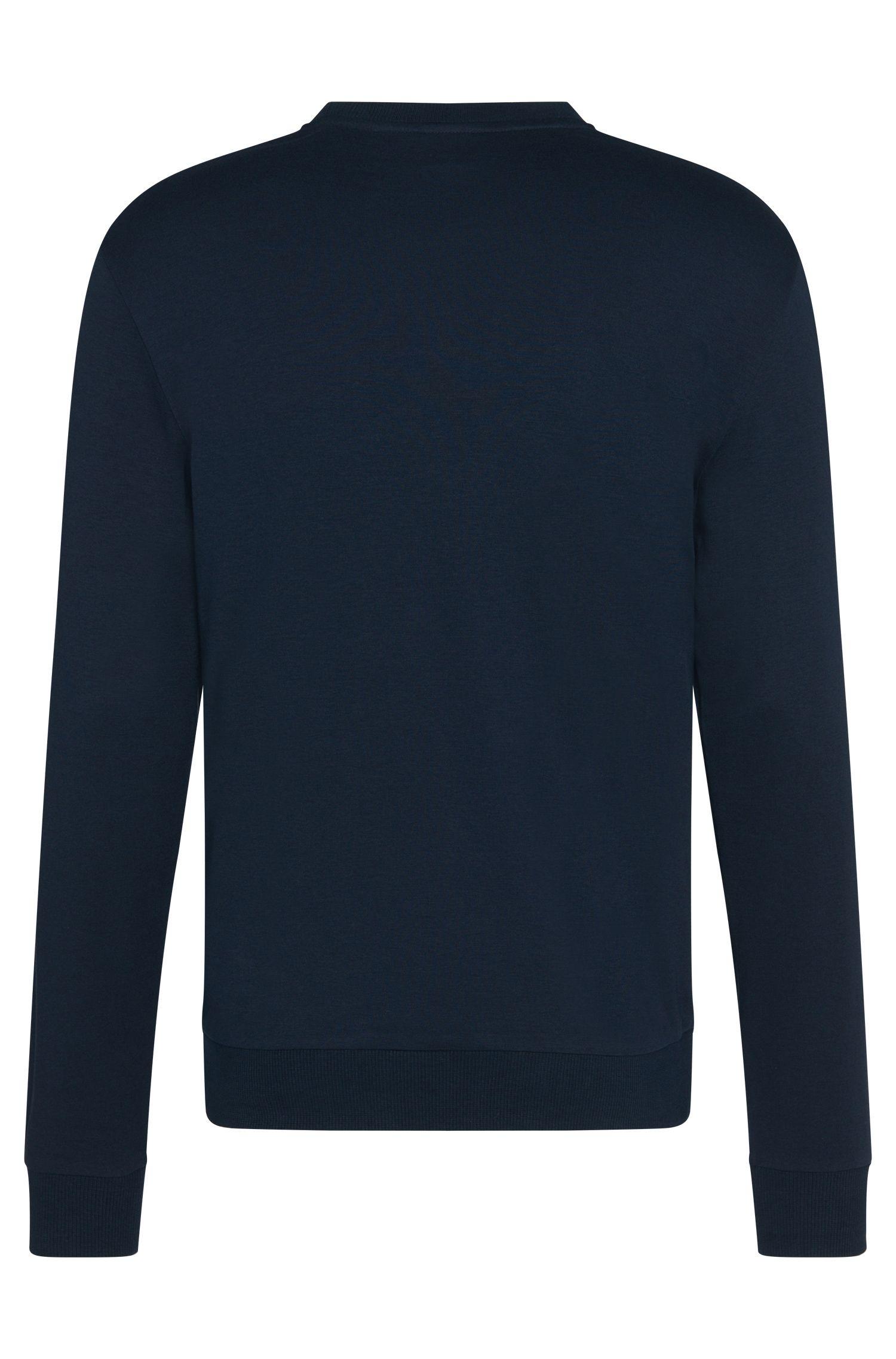 Sweat en coton à imprimé sur le devant: «Sweatshirt»
