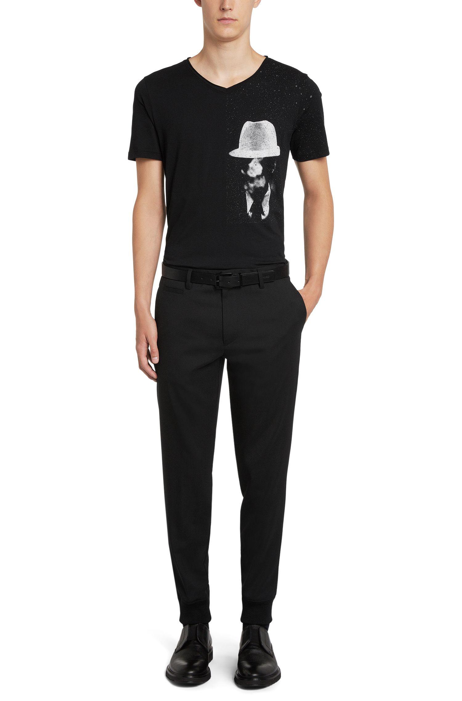 T-shirt Regular Fit en coton, à l'imprimé original: «Dellas»