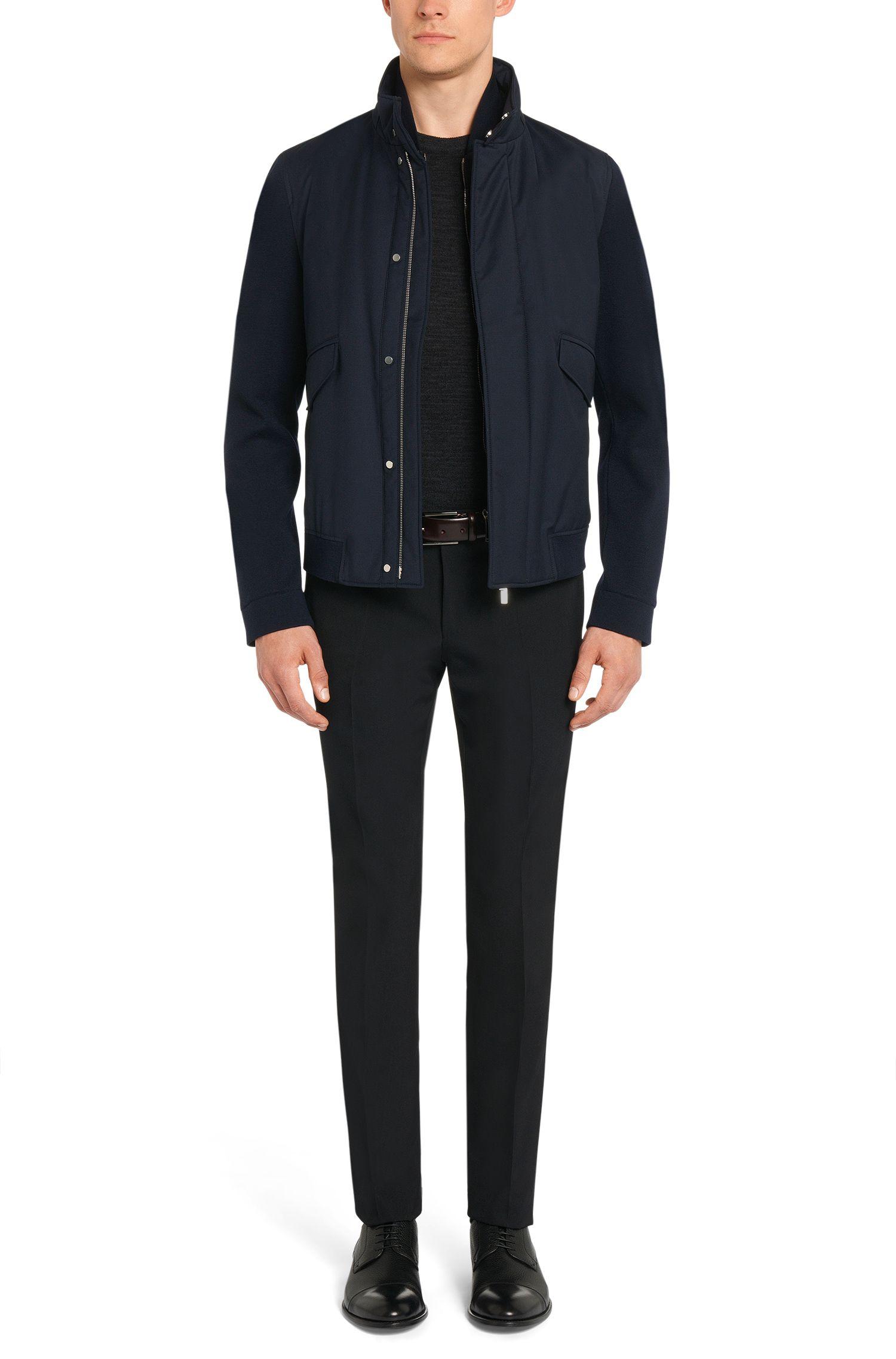 Tailored Jacke aus Schurwolle mit heraustrennbarer Reißverschlussblende: 'T-Cancun'