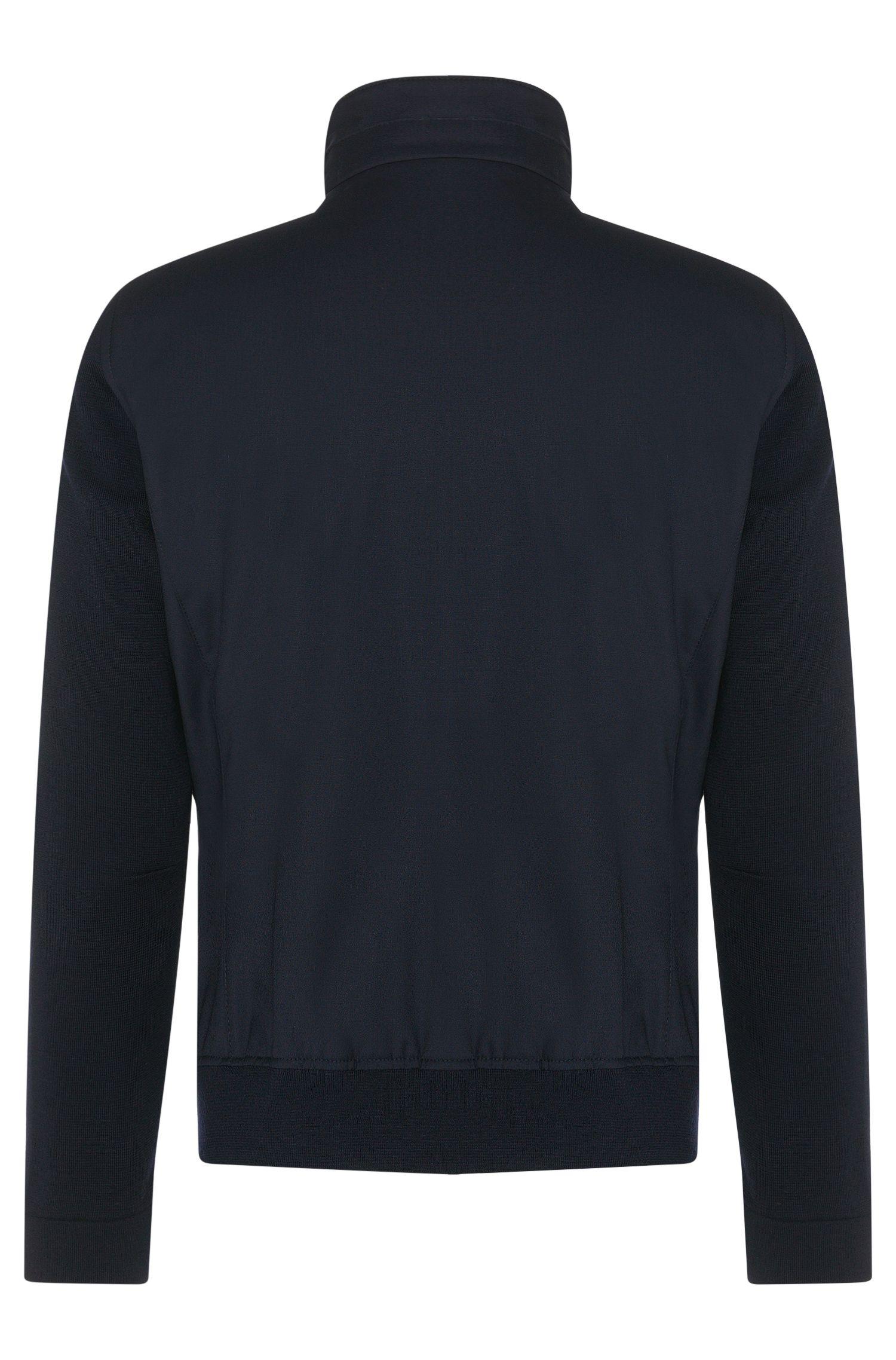 Blouson Tailored en laine vierge dotée d'un empiècement zippé amovible: «T-Cancun»