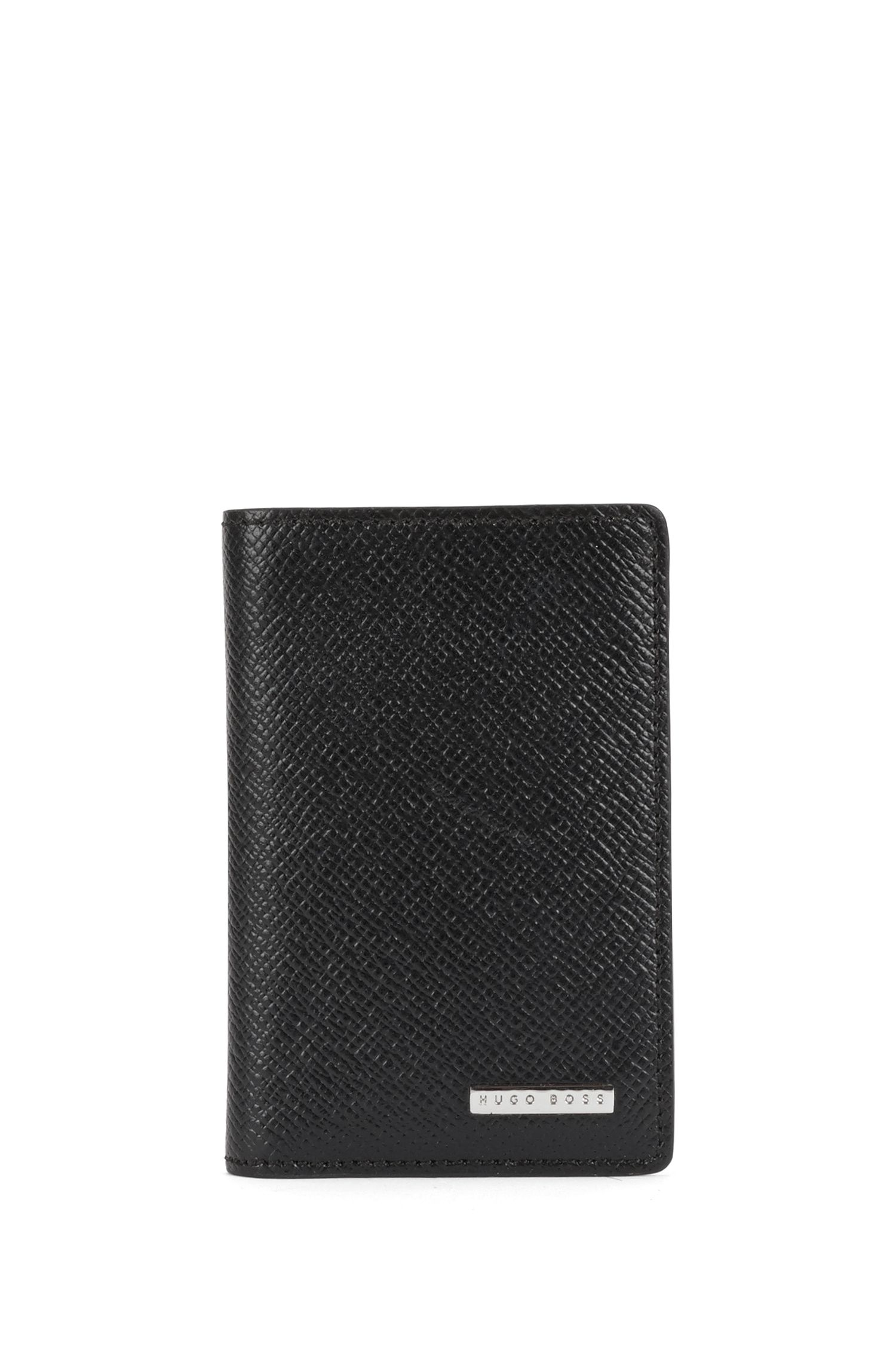 Small-format wallet in grained leather: 'Signature_Bifold'