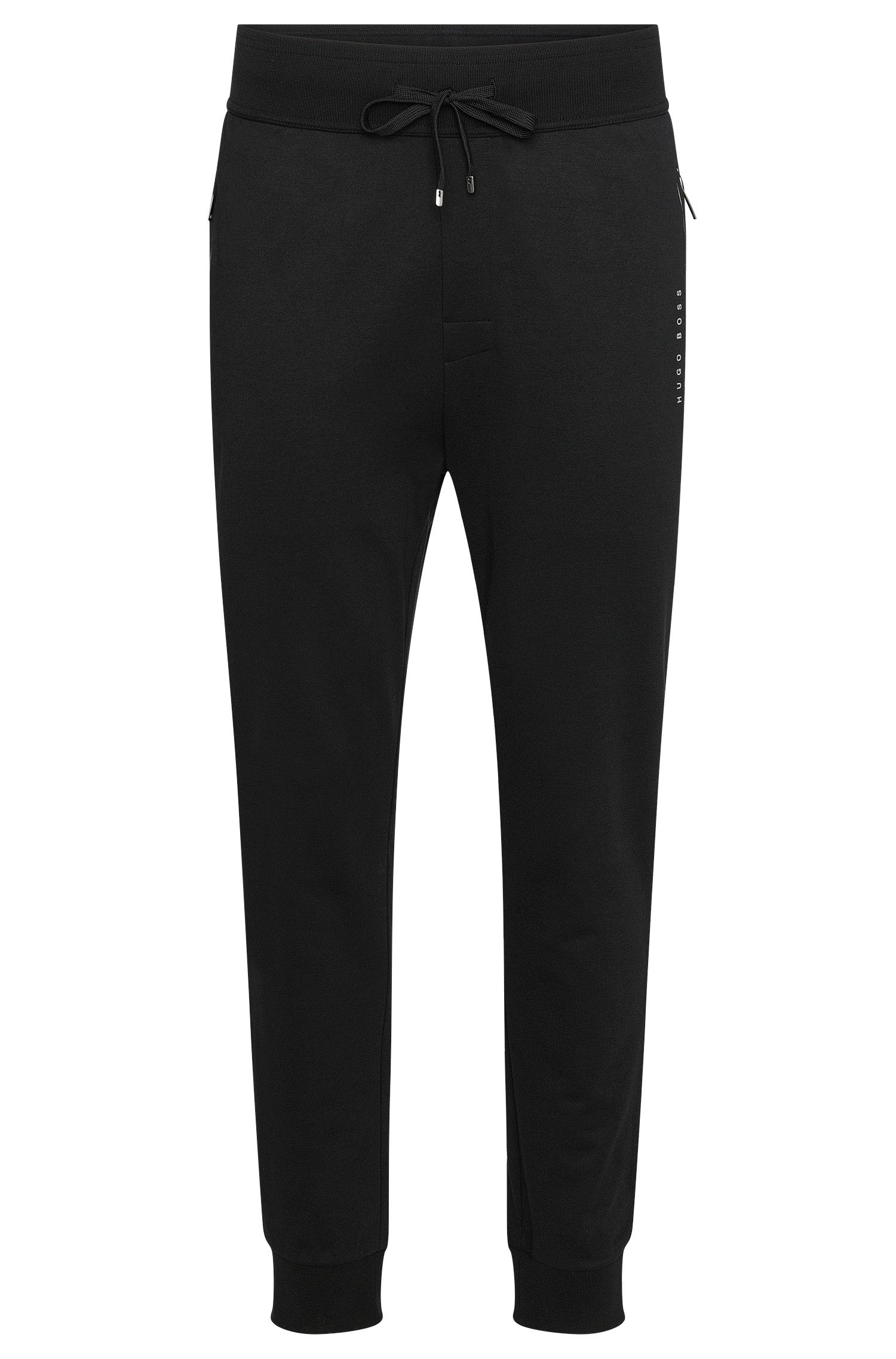 Unifarbene Jogginghose aus Baumwoll-Mix: 'Long Pant Cuffs'