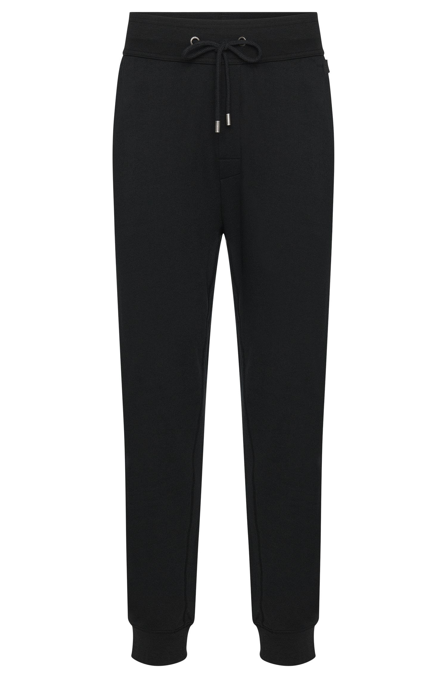 Pantalon sweat uni en coton : « Long Pant Cuffs »