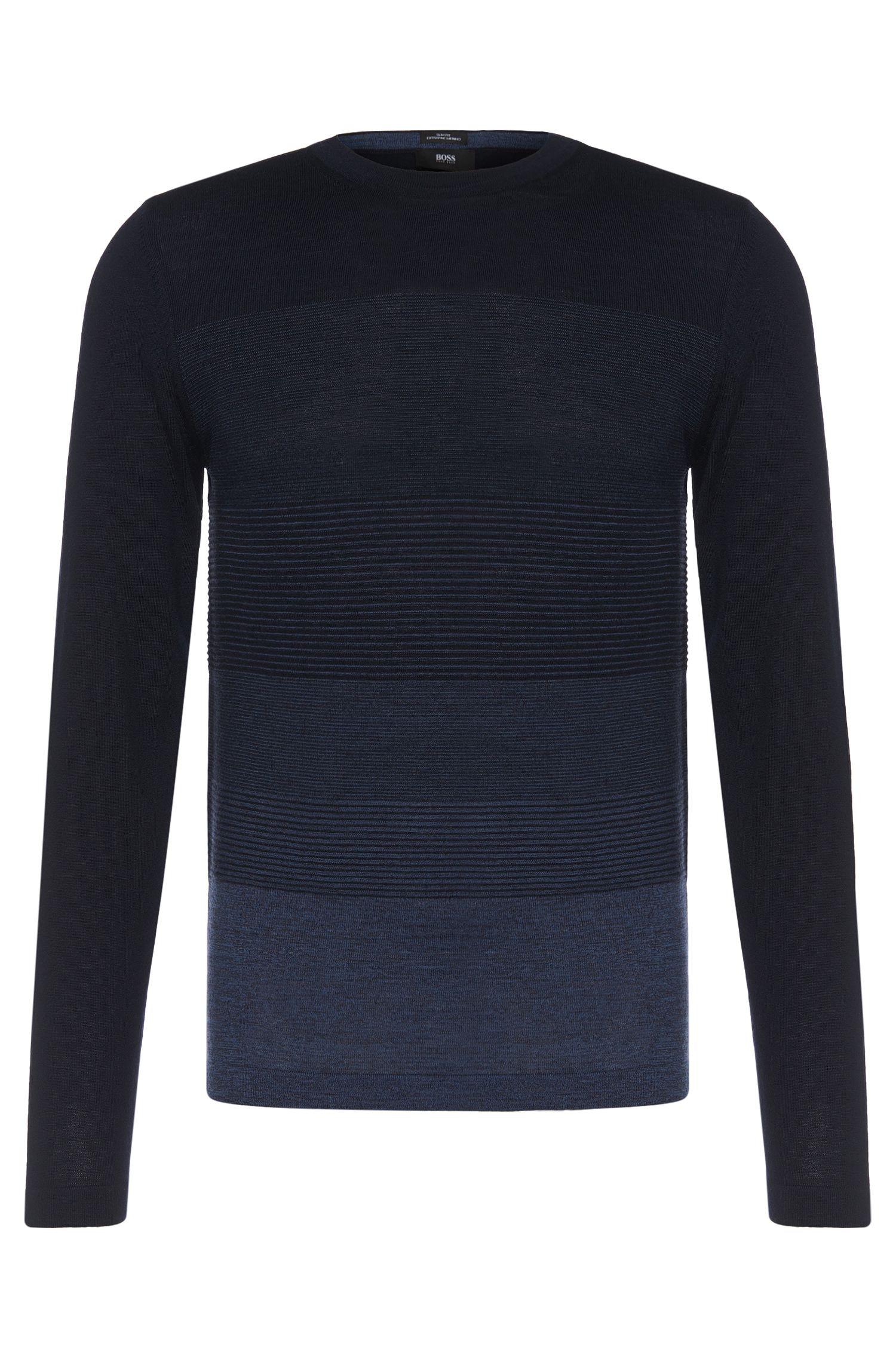 Jersey slim fit de lana virgen con estampado de rayas: 'Balasco'