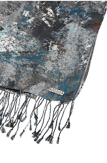 Print-Schal aus Viskose-Mix mit Seide: ´Narctica`, Gemustert