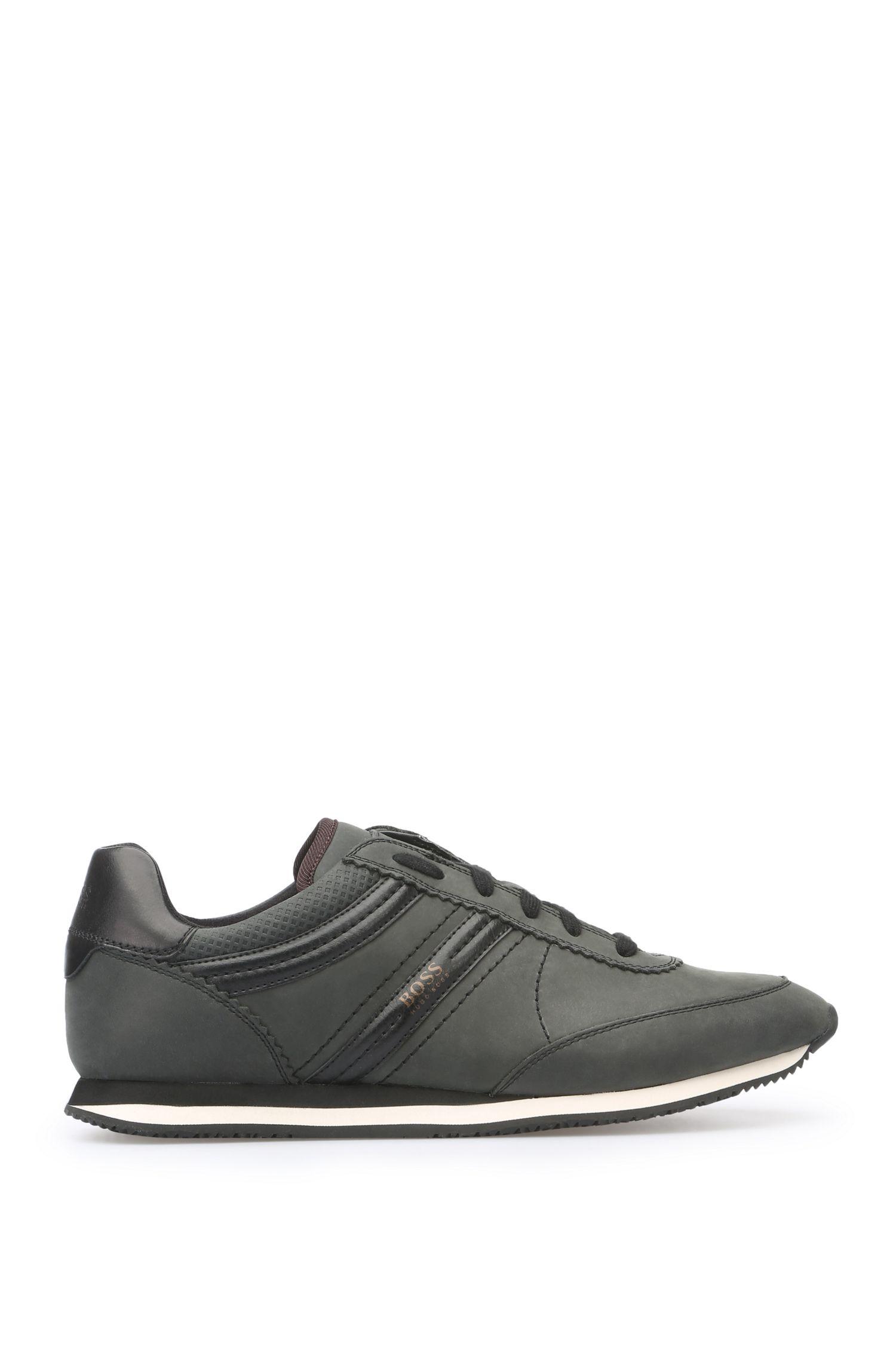 Sneakers van leer met wascoating: 'Bushwick_Tenn_cv'