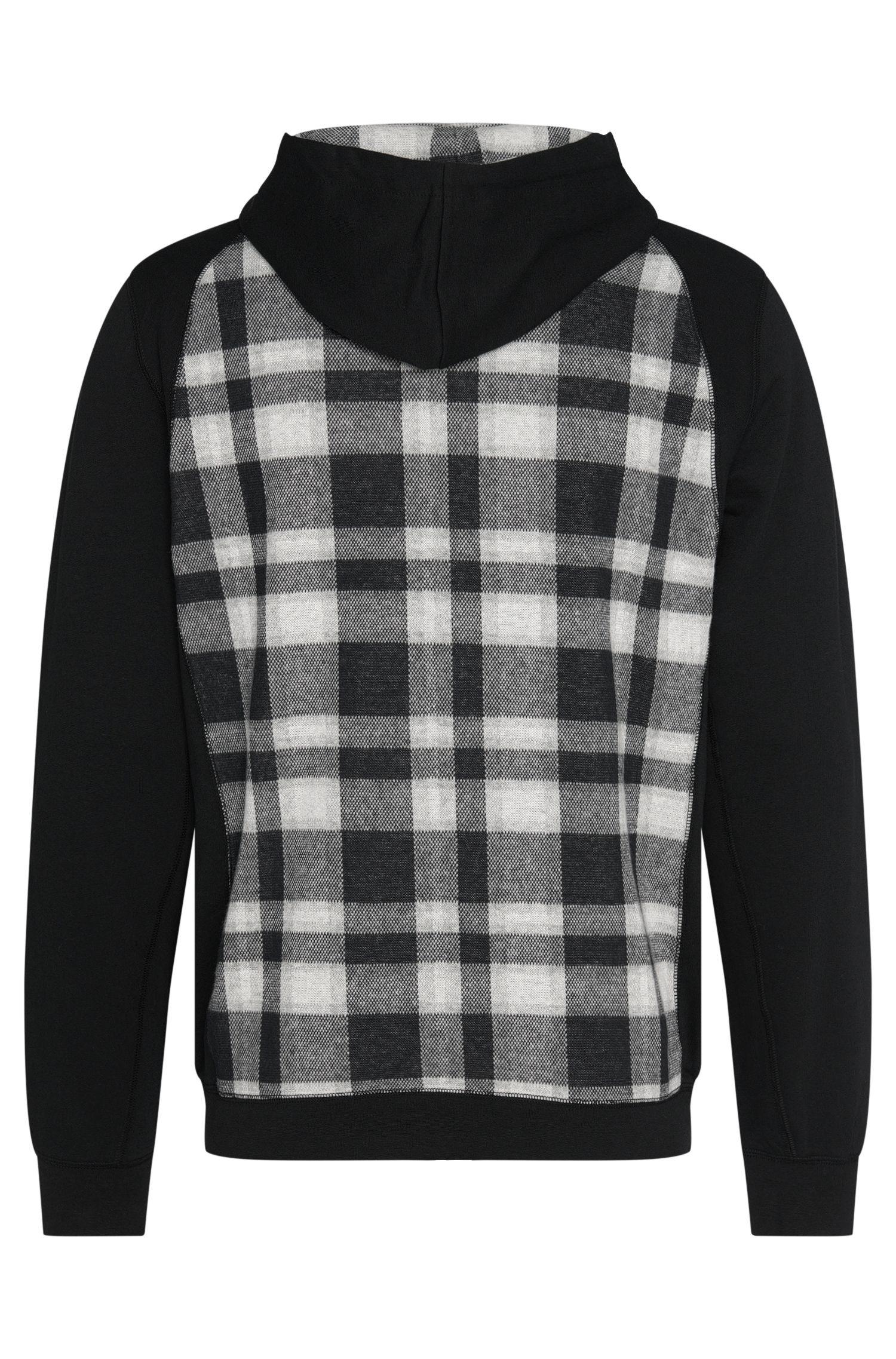 Geruite sweatjas van katoen met capuchon: 'Jacket Hooded'