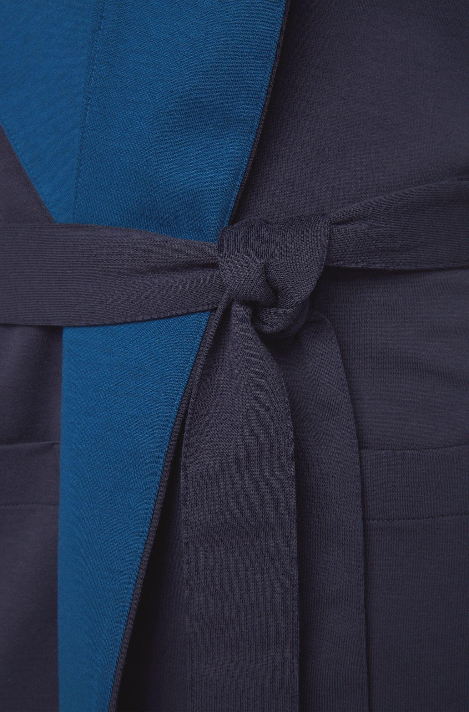 Ochtendjas van een katoenmix met capuchon: 'Hooded Robe'