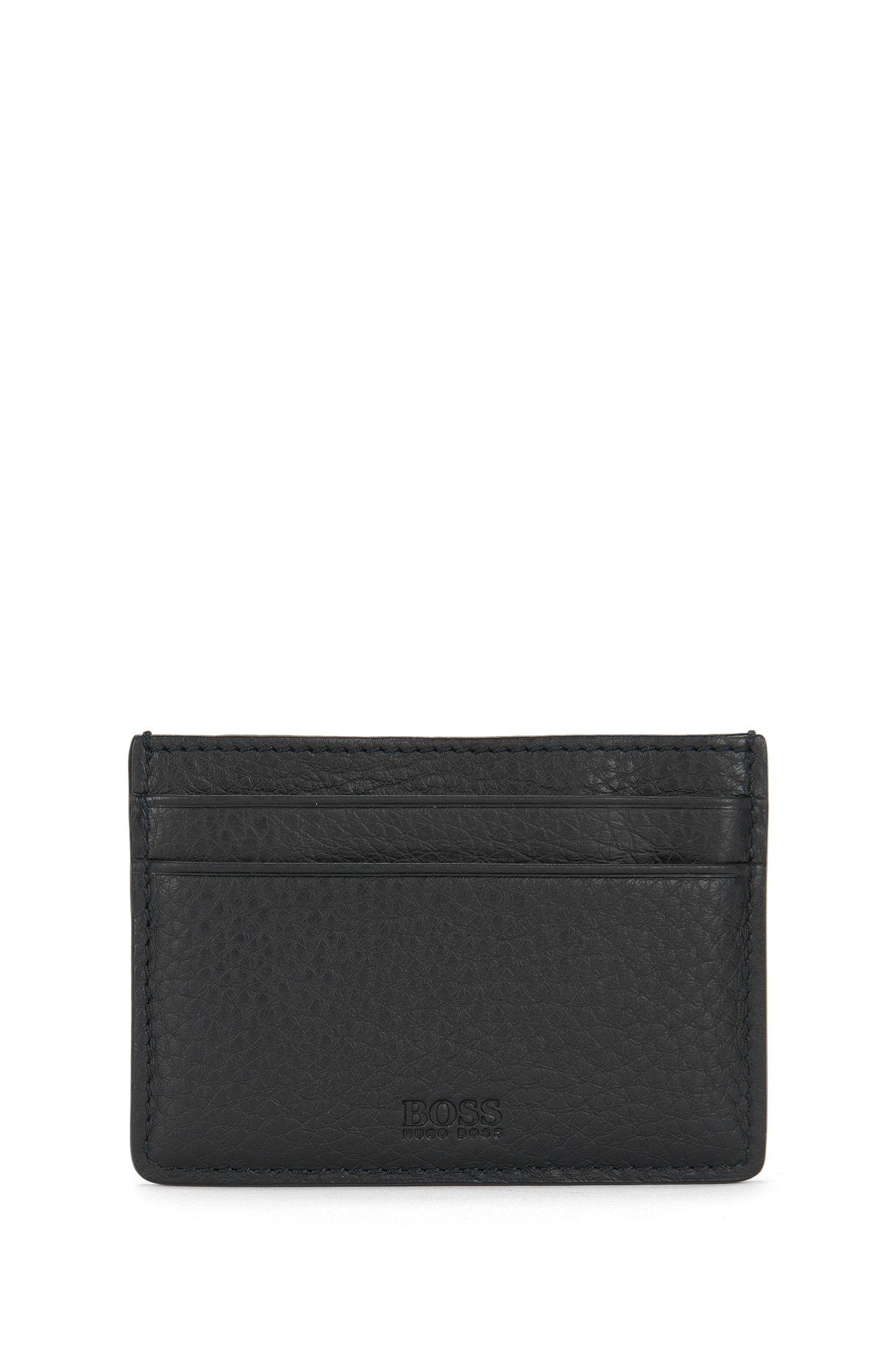 Kartetui aus softem Leder mit Geldscheinklammer: 'Traveller_Money clip'