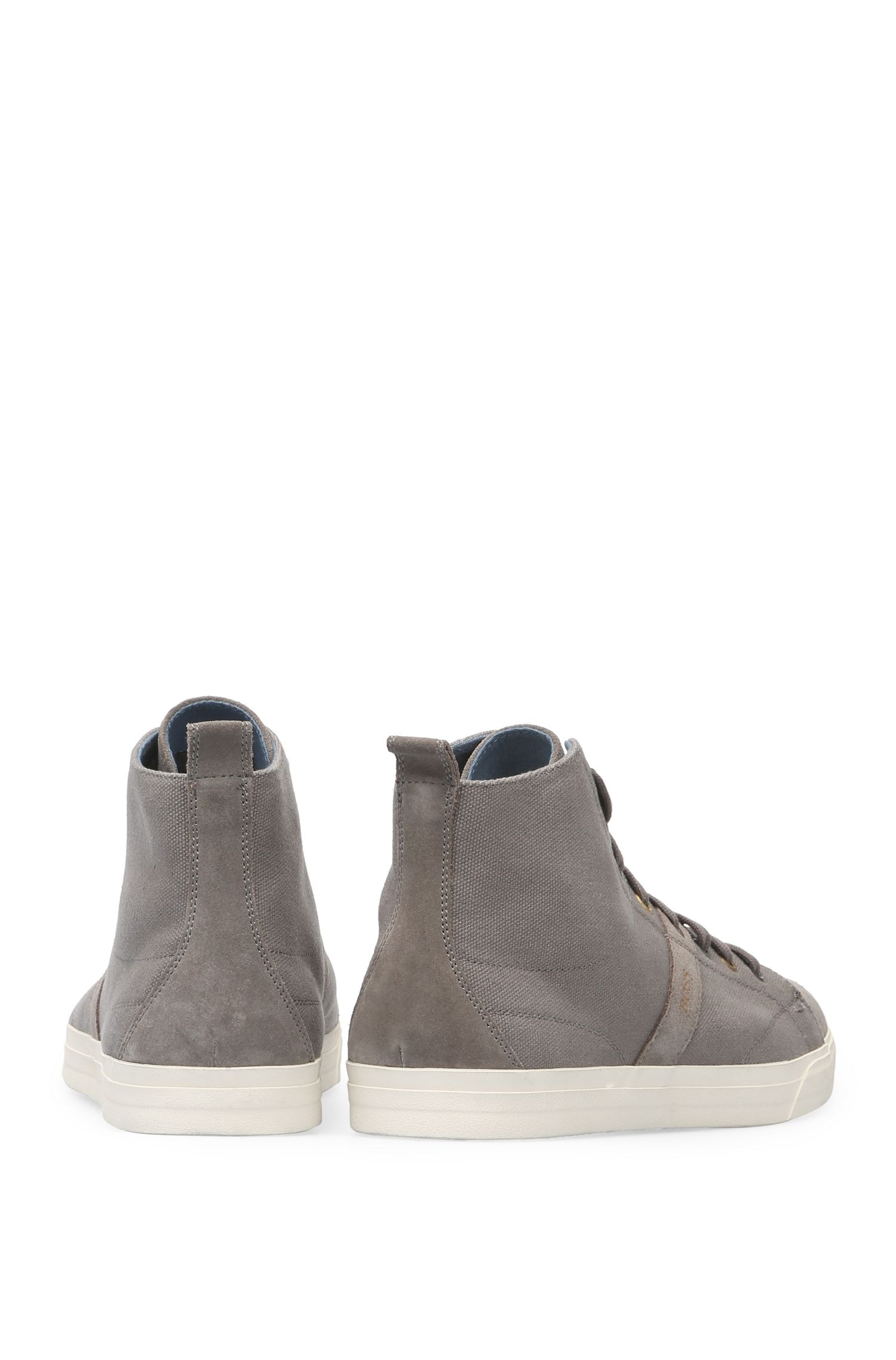 High Top Sneakers aus Baumwoll-Canvas mit Leder: ´Bushwick_Hicu_cv`