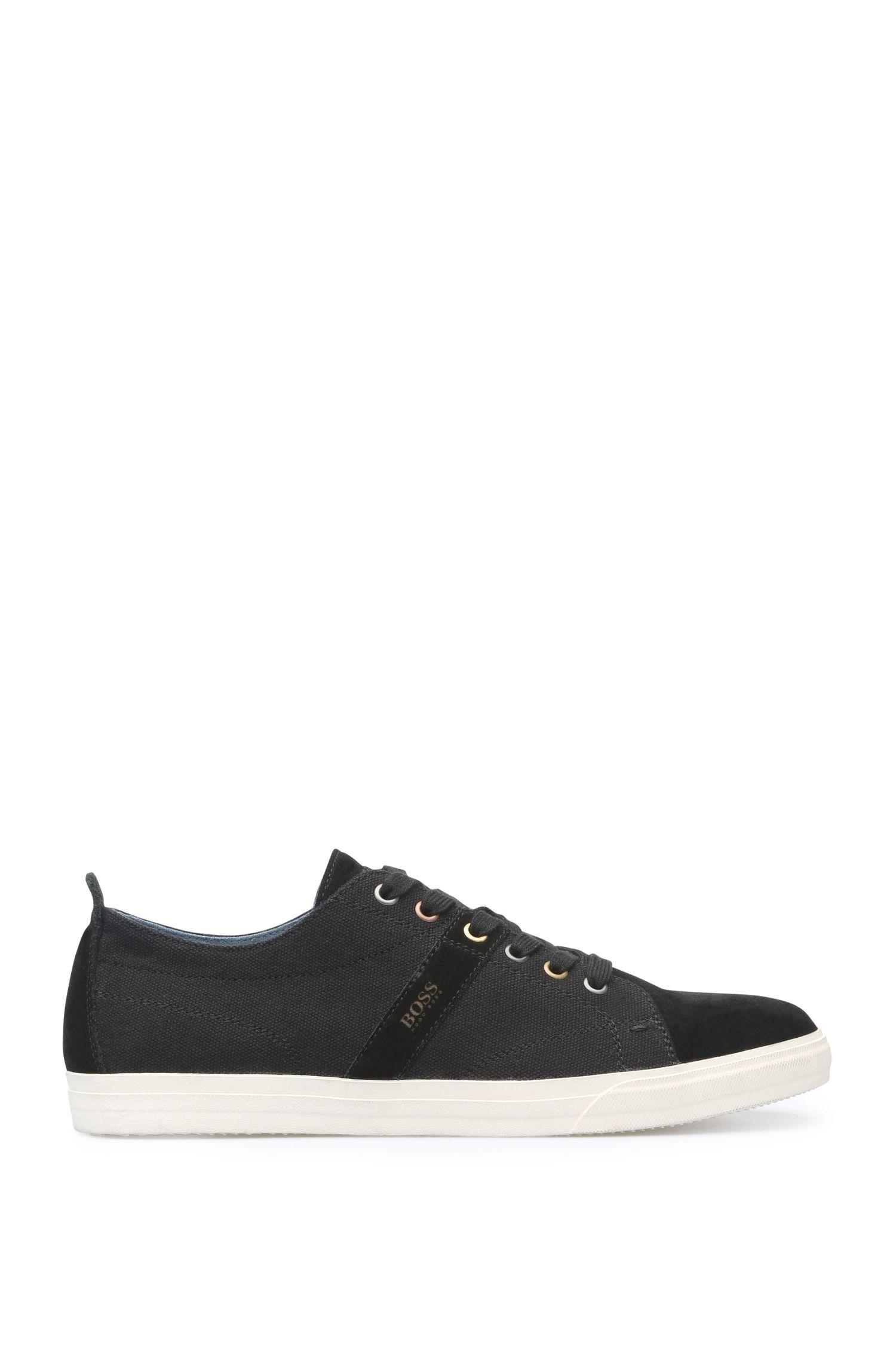 Sneakers van suède en textiel met contrasterende zool: 'Bushwick_Tenn_cv'