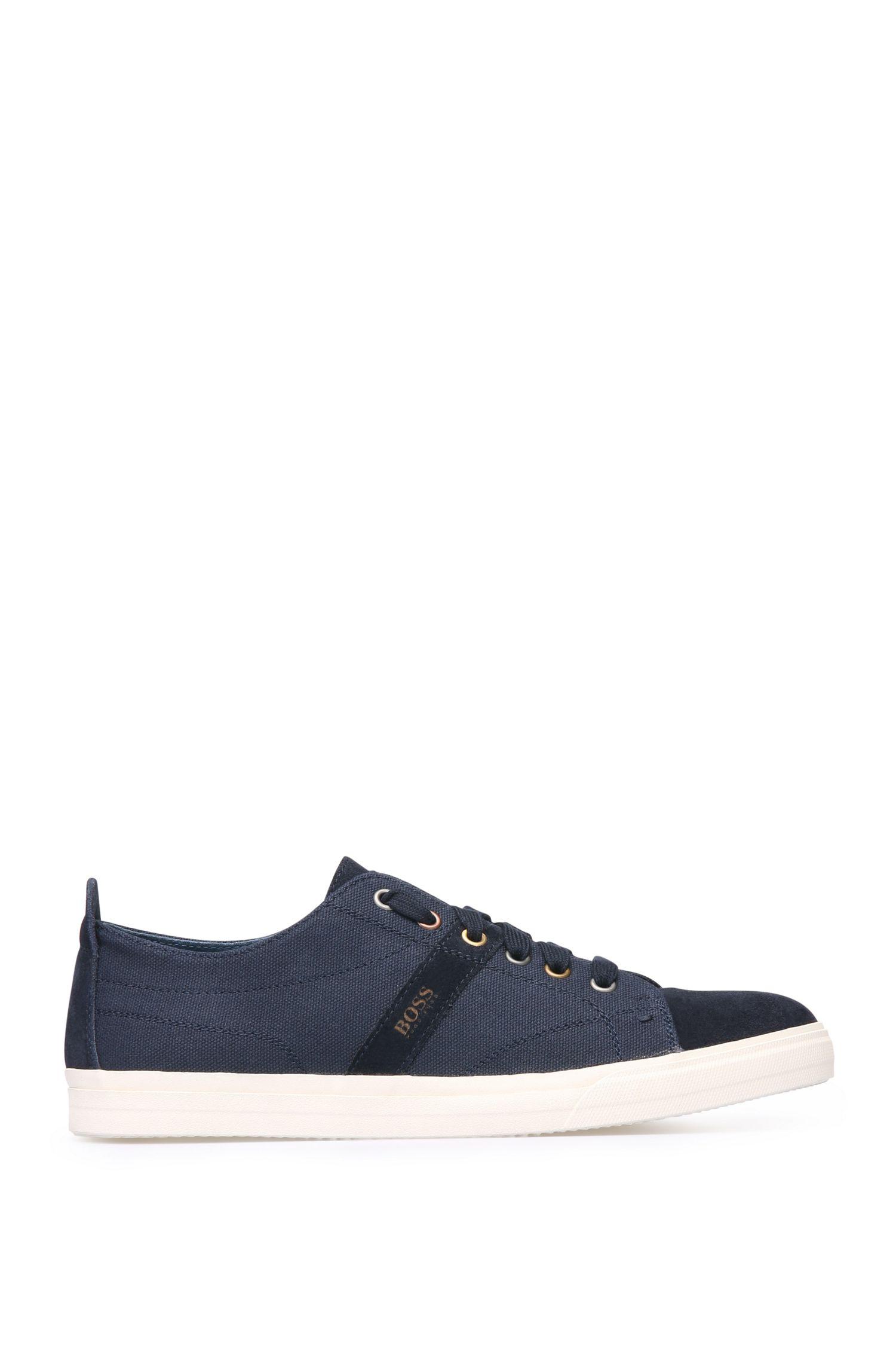 Sneakers in pelle scamosciata e tessuto con suola di colore contrastante: 'Bushwick_Tenn_cv'