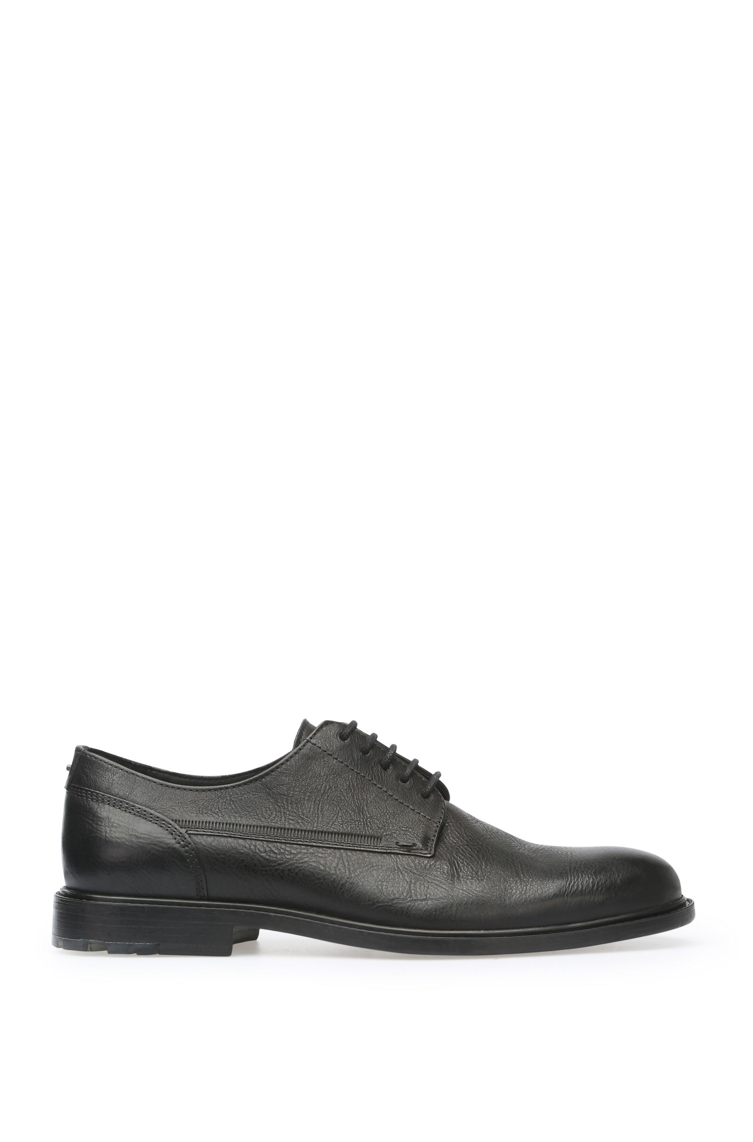 Lace-ups in leather with vintage finish: 'Cultroot_Derb_lt'