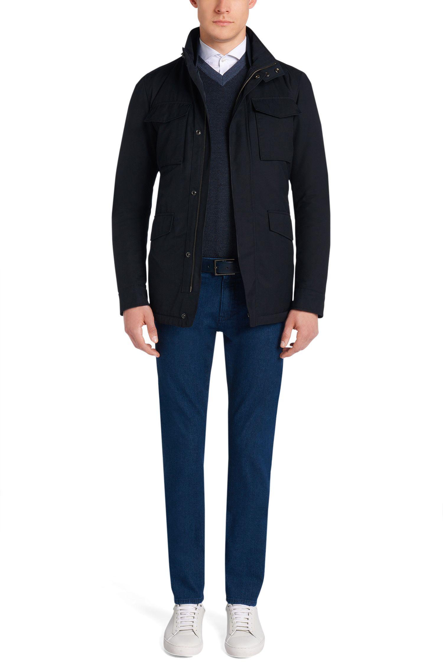 Slim-fit trui van scheerwol: 'Babino'