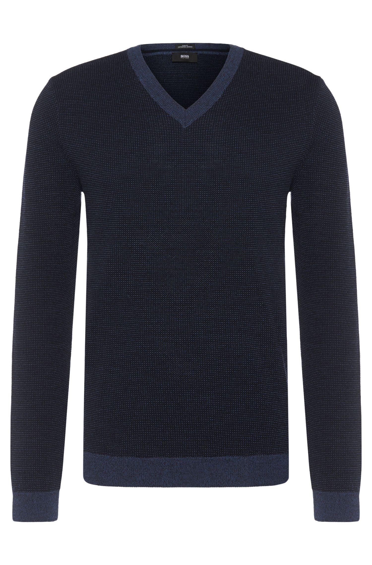Jersey slim fit en lana virgen: 'Babino'