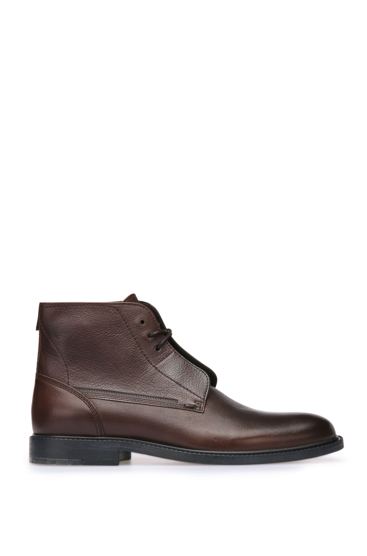 Smooth leather boots with a natural grain: 'Cultroot_Halb_lt'