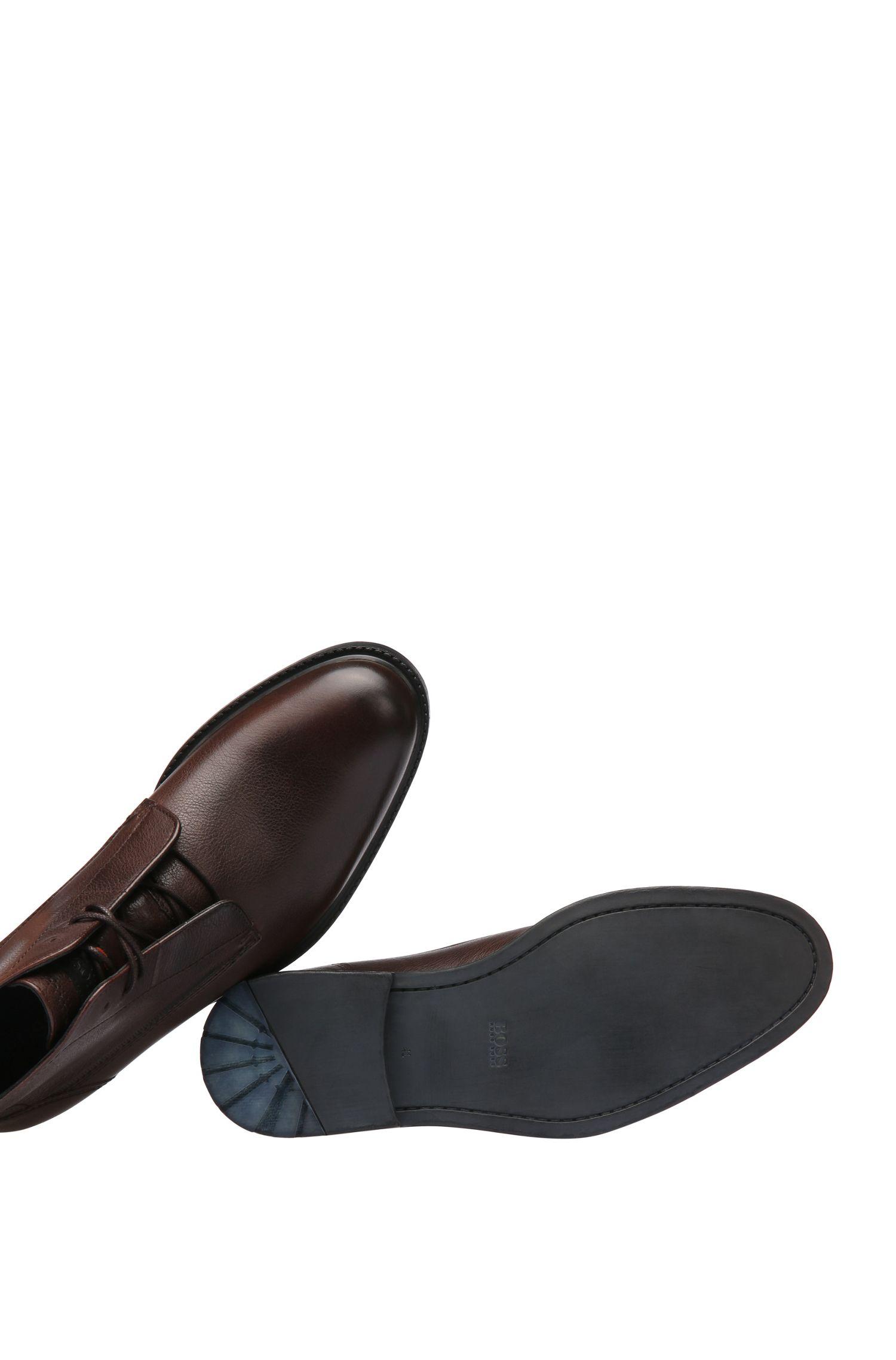 Laarzen van glad leer met natuurlijke nerf: 'Cultroot_Halb_lt'