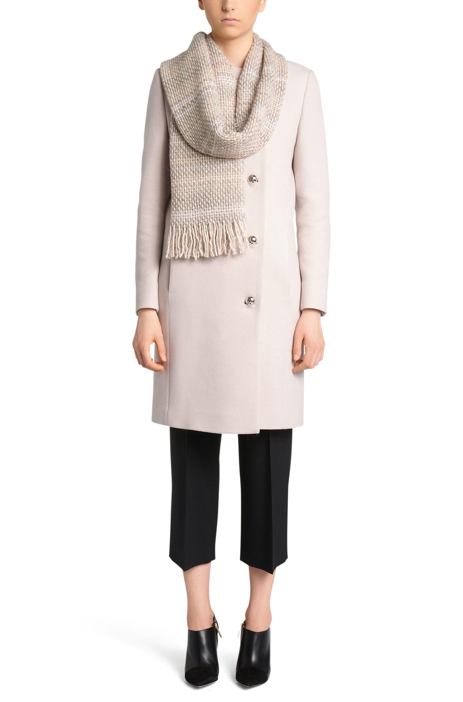 Écharpe aux discrets effets chinés en laine vierge mélangée à de l'alpaga: «Women-Z 525»
