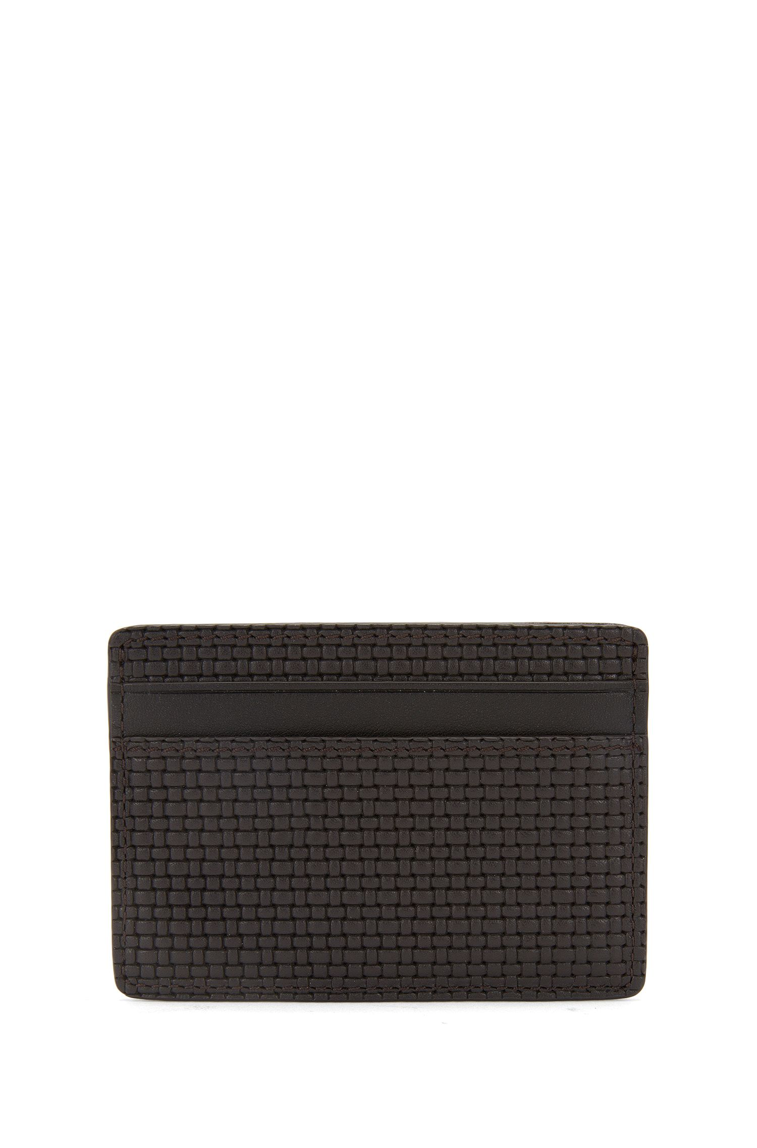 Textured leather card case: 'Traveller B_S card'