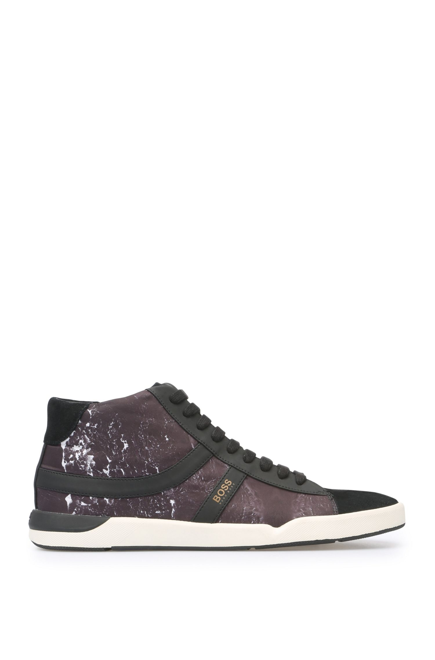 Trainers with textile, suede and rubberised details: 'Stillnes_Midc_nypr'