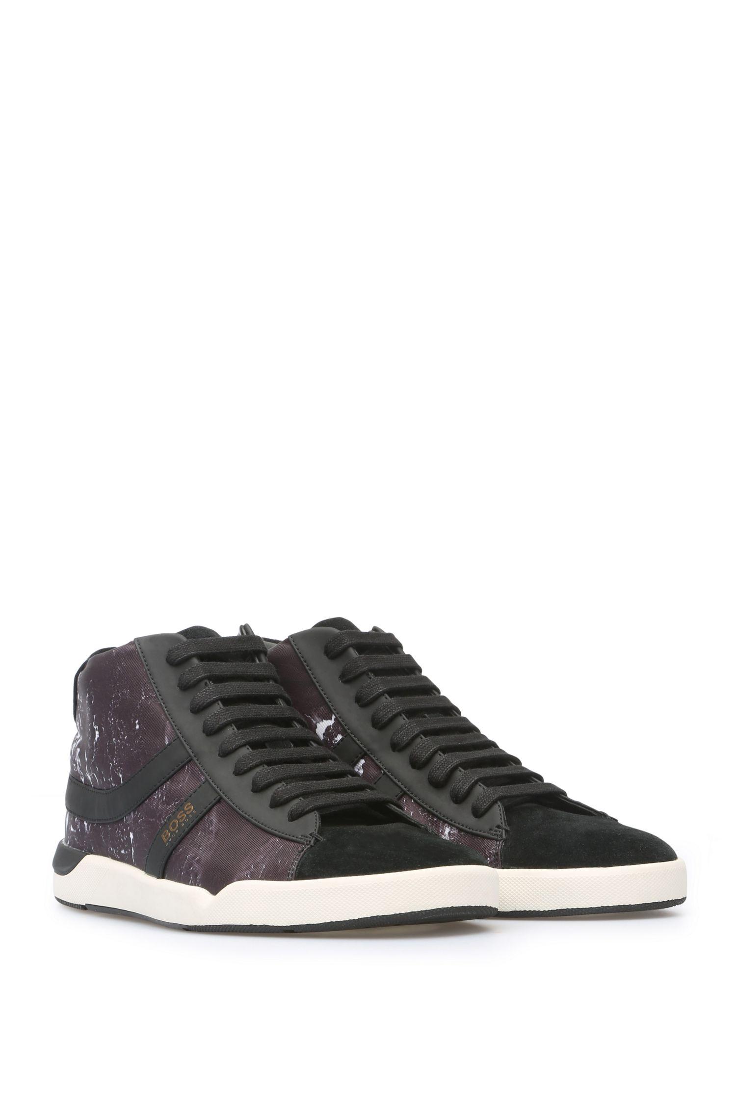 Sneakers mit Textil, Velours und gummierten Details: ´Stillnes_Midc_nypr`