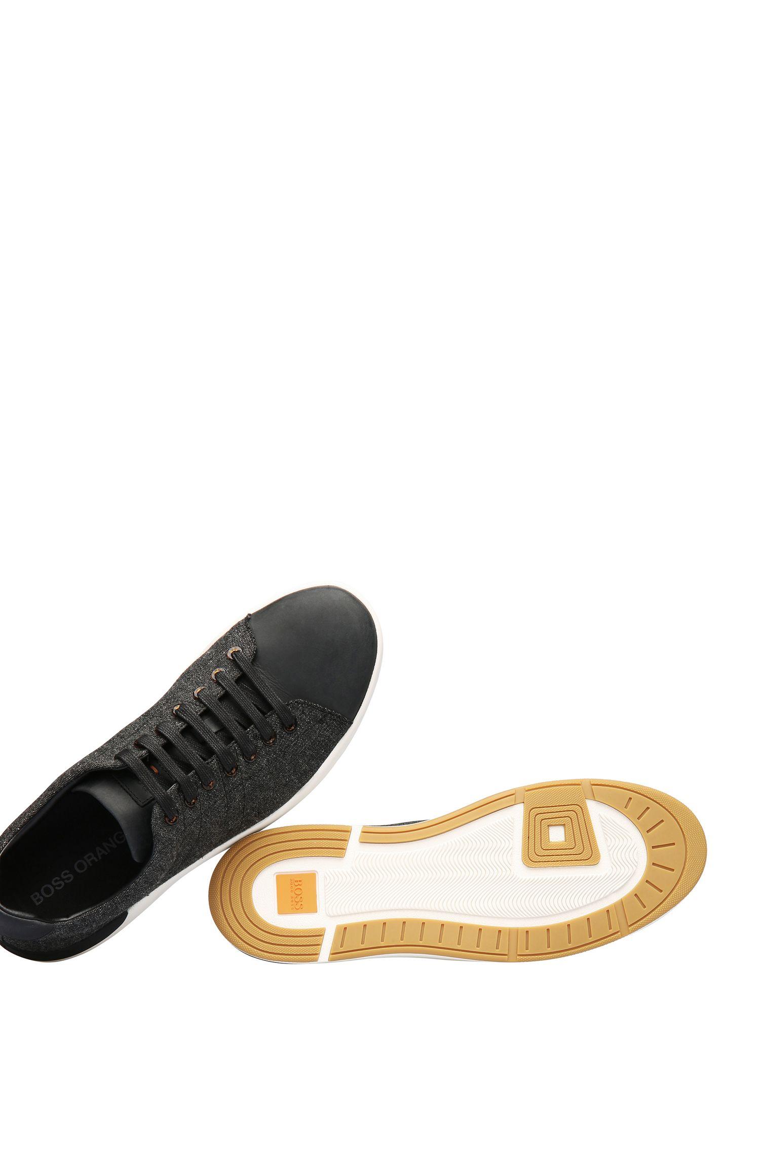 Sneakers van leer en canvas: 'Stillness_Tenn'