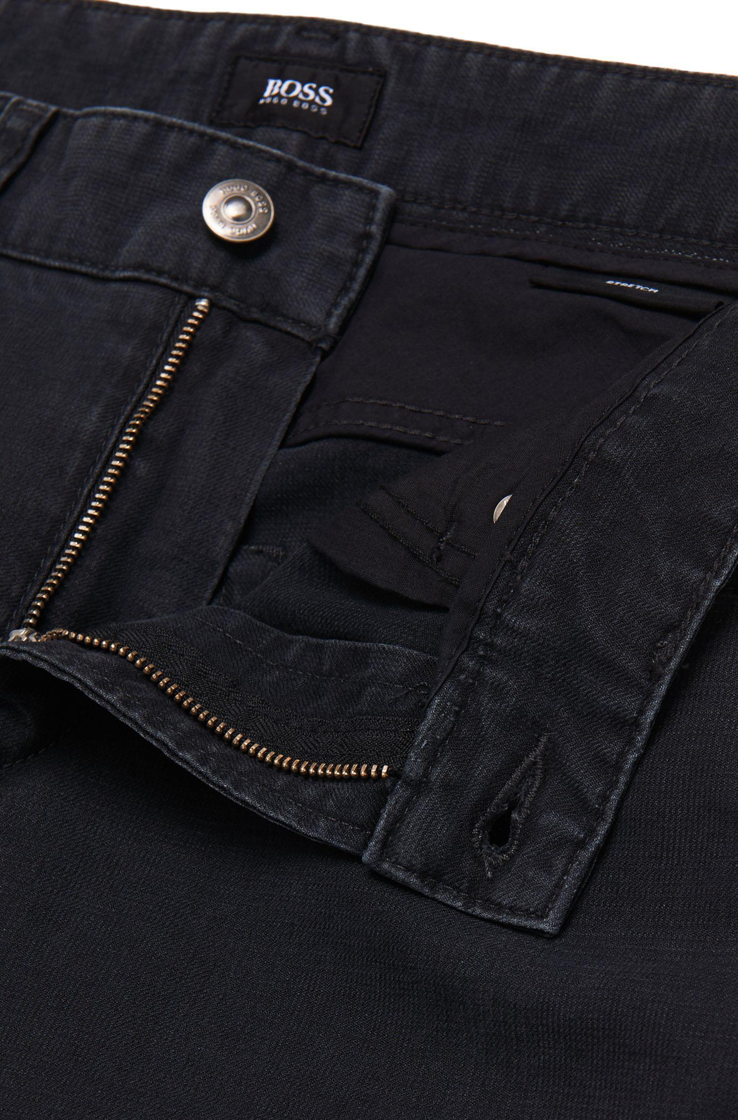 Slim-fit jeans van stretchkatoen met fijne structuur: 'Delaware3-20'