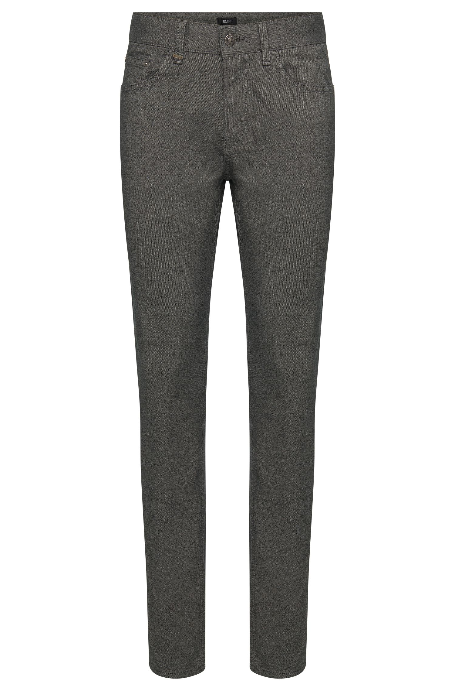 Pantalon Slim-Fit en coton stretch de style cinq poches : « Delaware3-20 »
