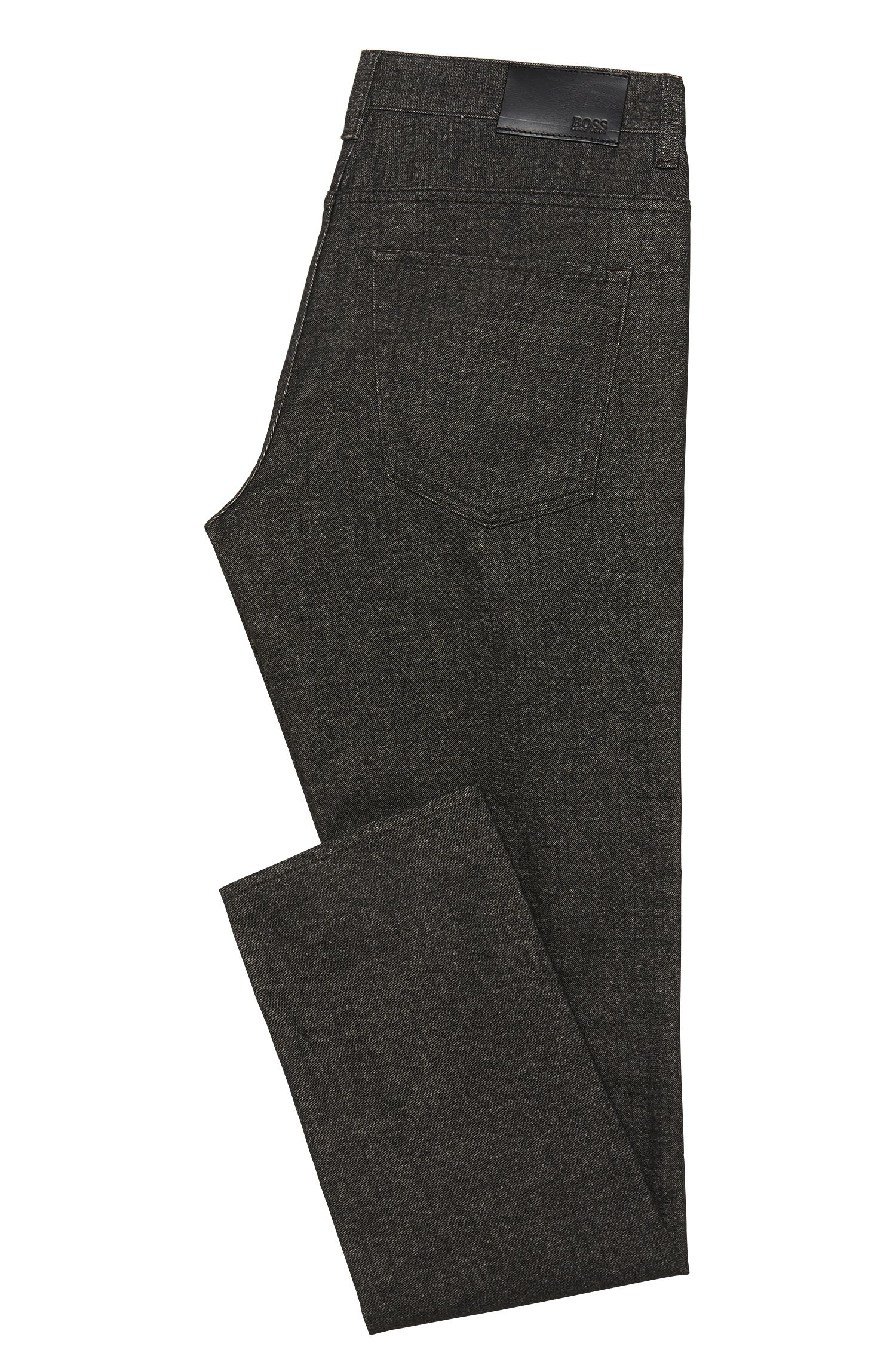 Melierte Slim-Fit Hose aus Baumwoll-Mix: 'Delaware3-20'