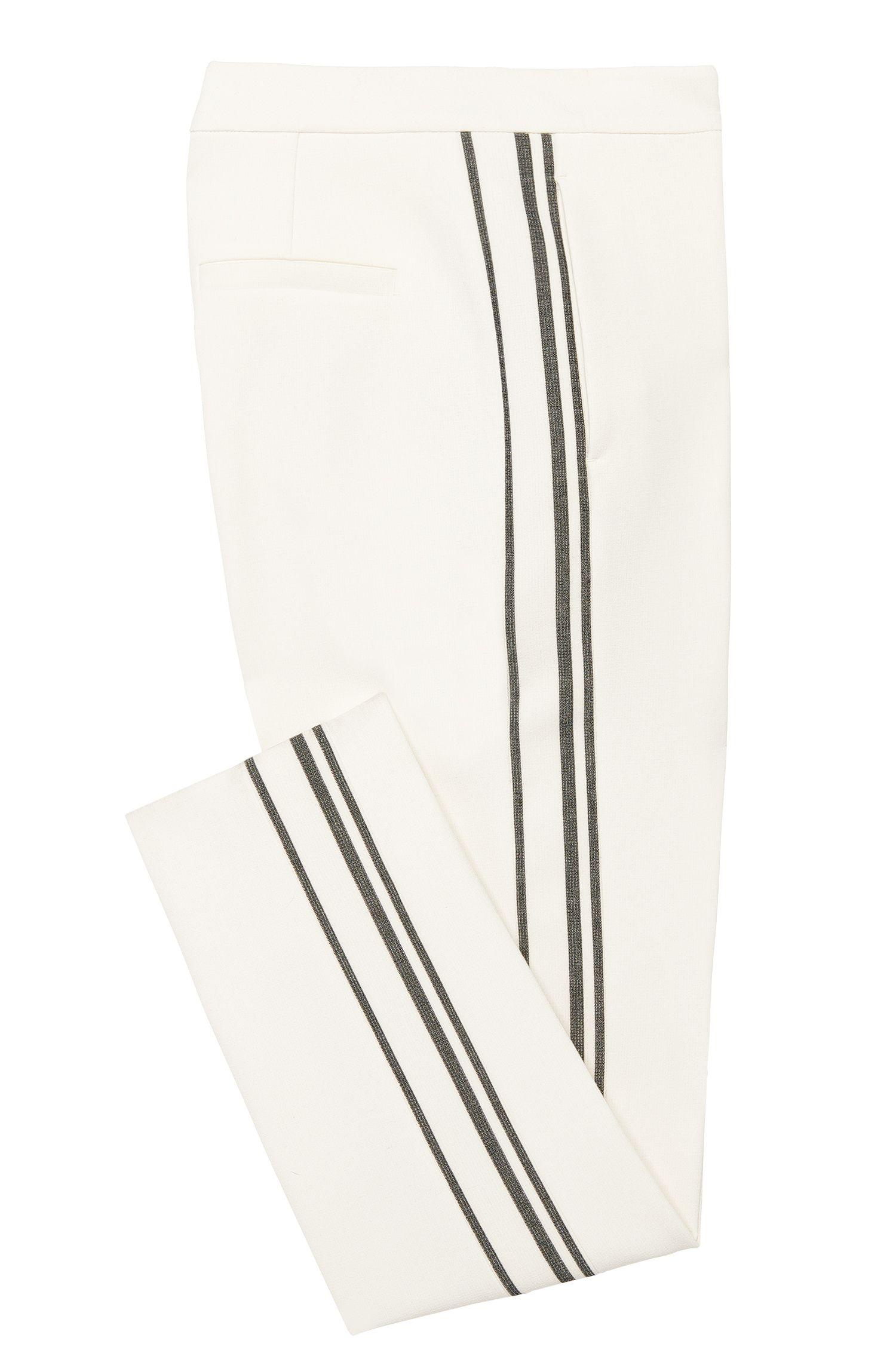 Pantalon Relaxed Fit orné de détails à rayures: «Arilana»