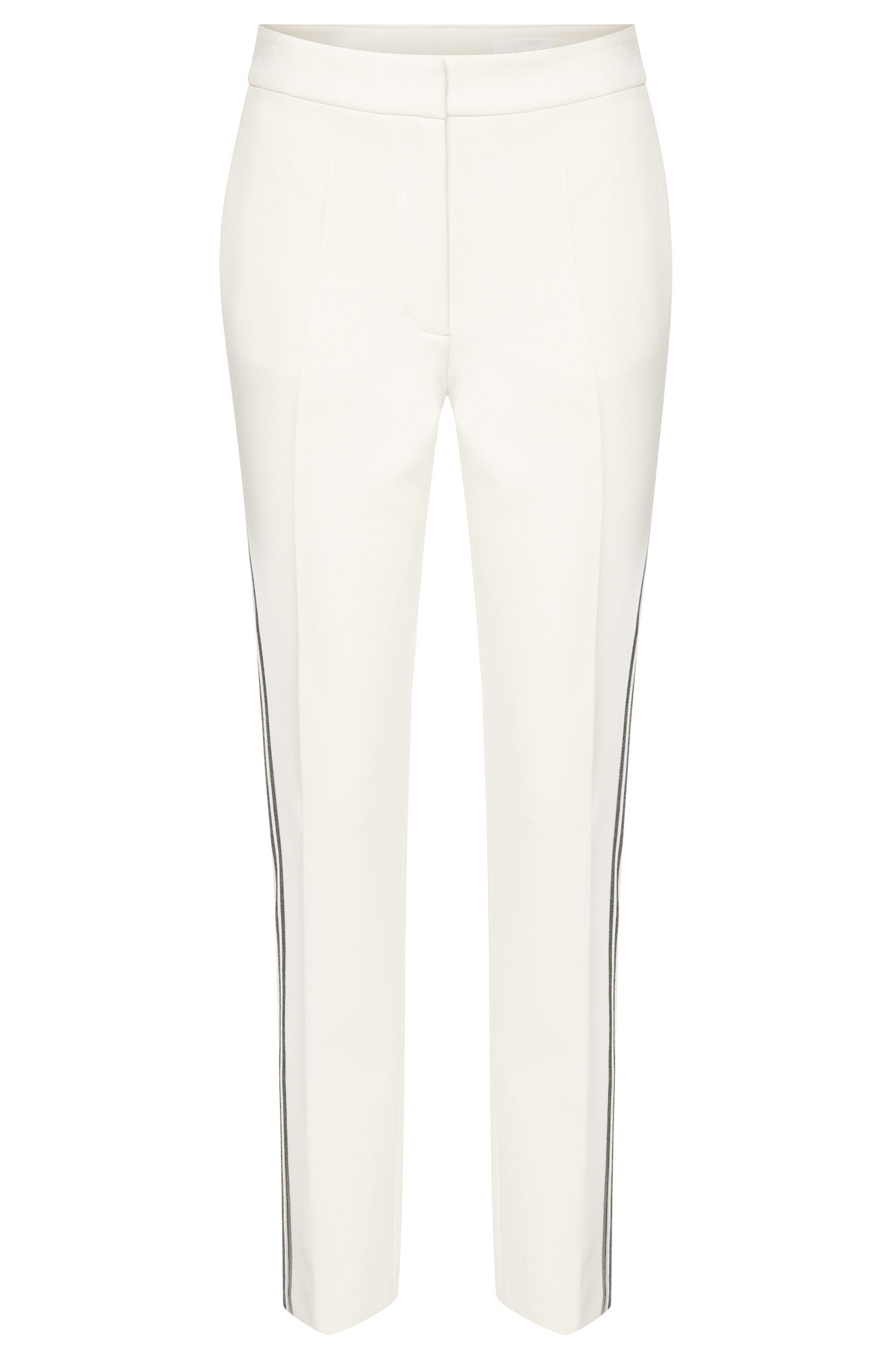 Regular-fit trousers with striped details: 'Arilana'