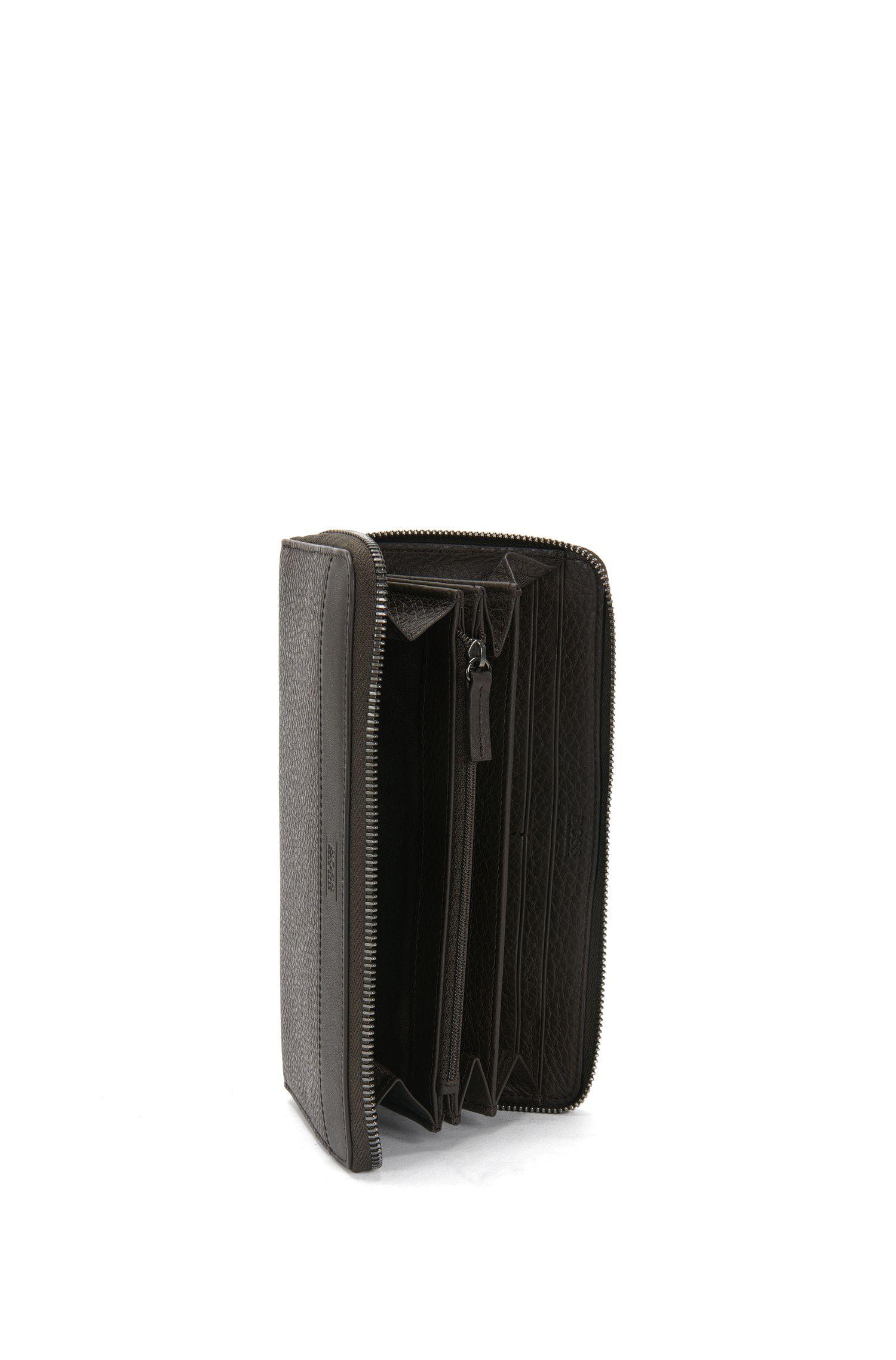 Geldbörse aus Leder im Kontinental-Format: 'Aspen_S zip trav'