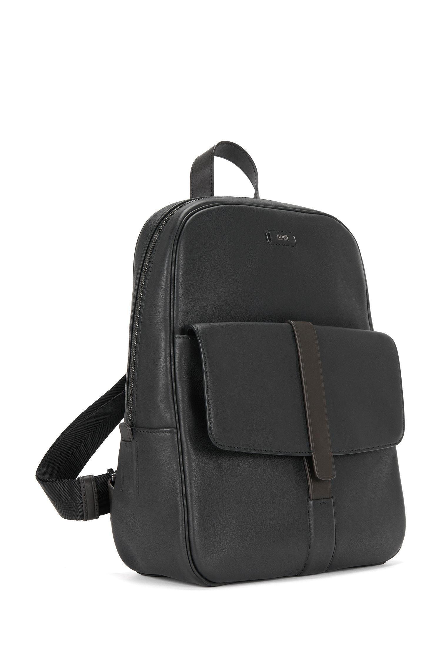 Leder-Rucksack mit Fronttasche: 'Jackson_Backpack'
