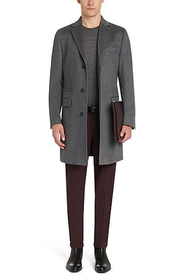 Slim-Fit Pullover aus Schurwolle: 'Leno-B', Grau