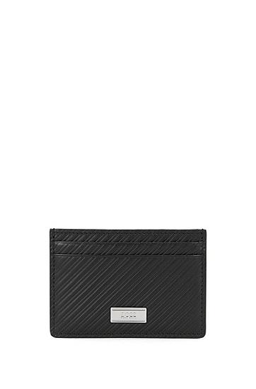 纹理化皮质钱包和卡包套装:'GbB16FW_8 cc S card',  001_黑色