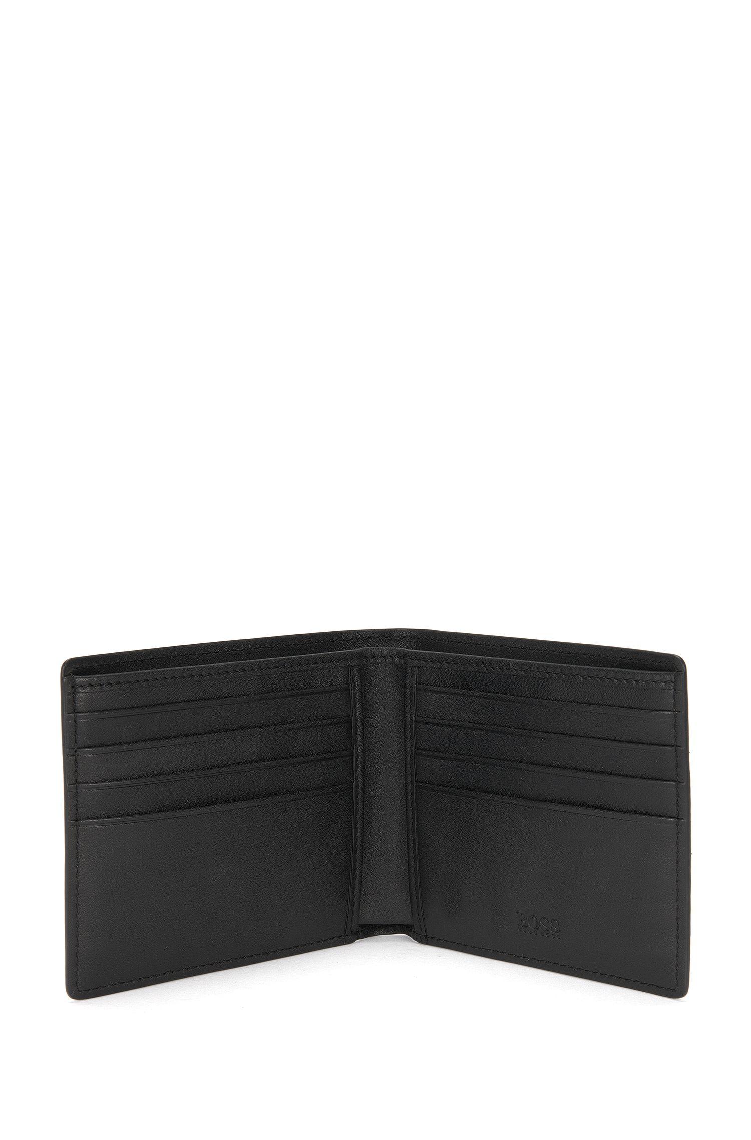 Set mit Geldbörse und Kartenetui aus strukturiertem Leder: 'GbB16FW_8 cc S card'