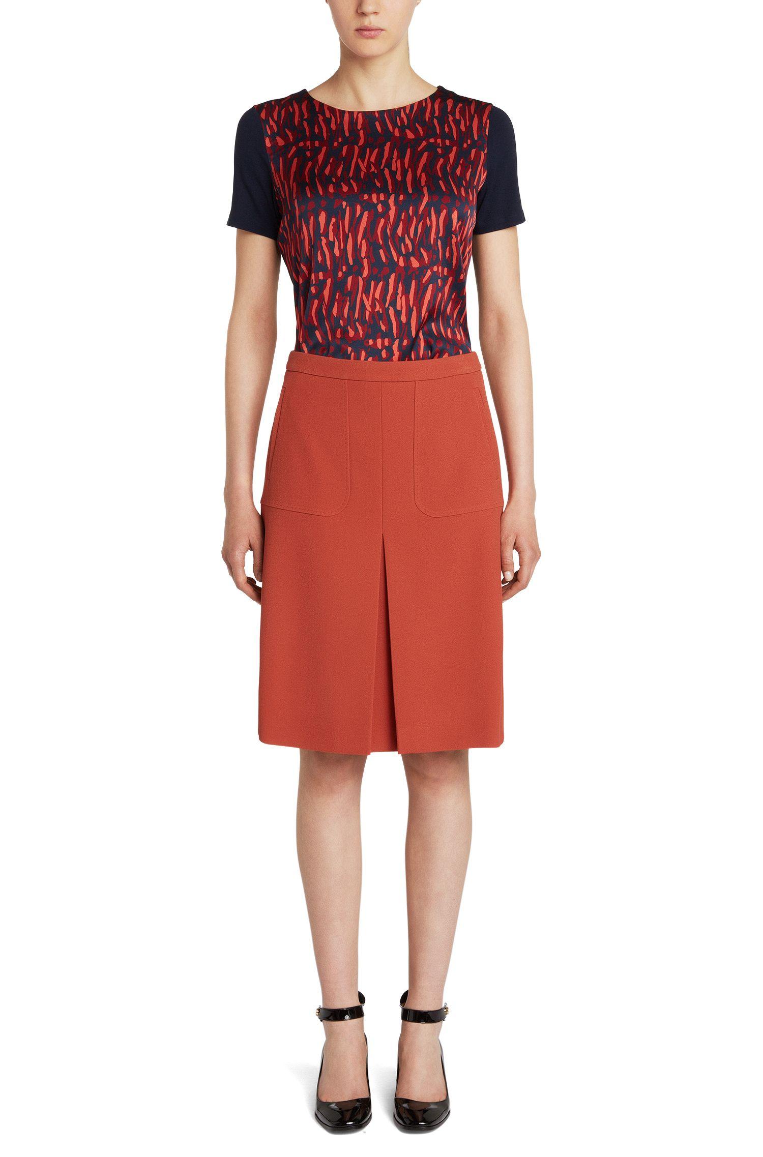 T-Shirt aus Stretch-Viskose mit gemusterter Front: 'Deminda'