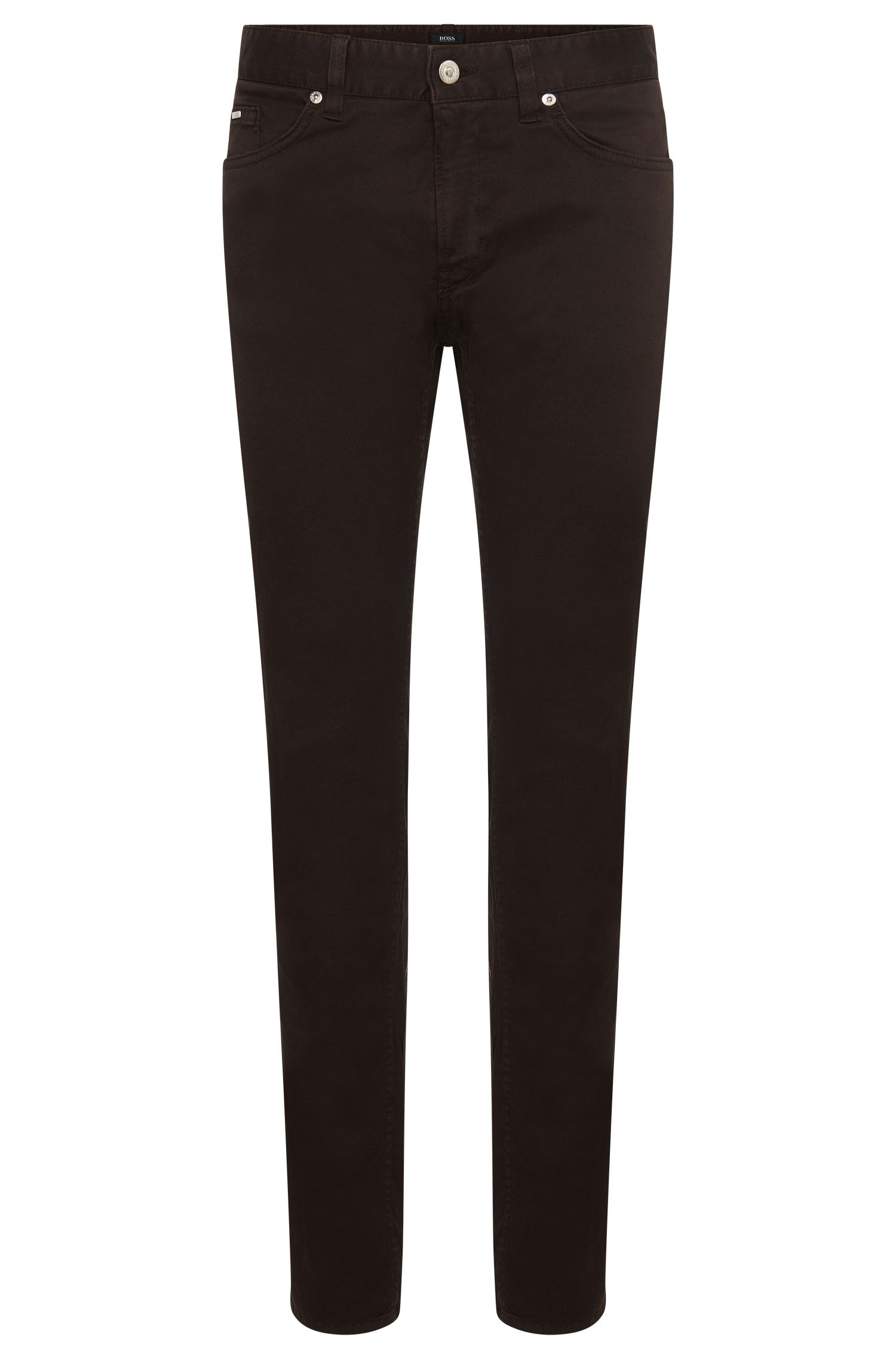 Solid-coloured slim-fit jeans in stretch cotton: 'Delaware3-20'