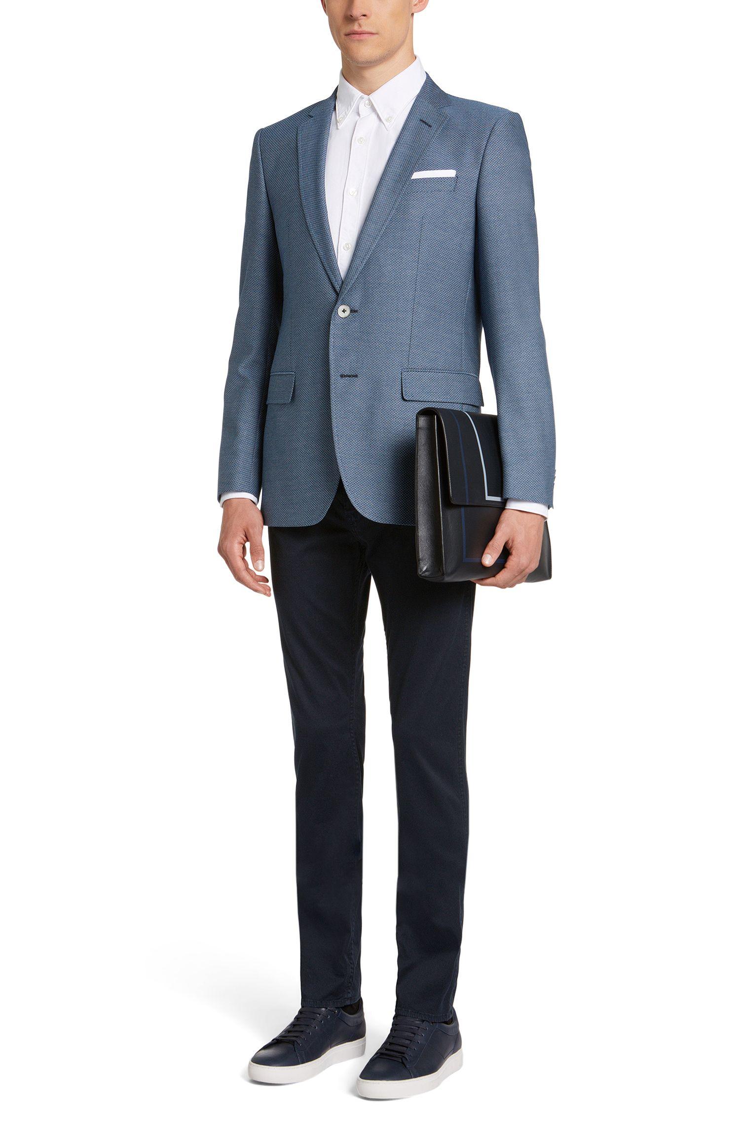 Unifarbene Slim-Fit Jeans aus Stretch-Baumwolle: 'Delaware3-20'