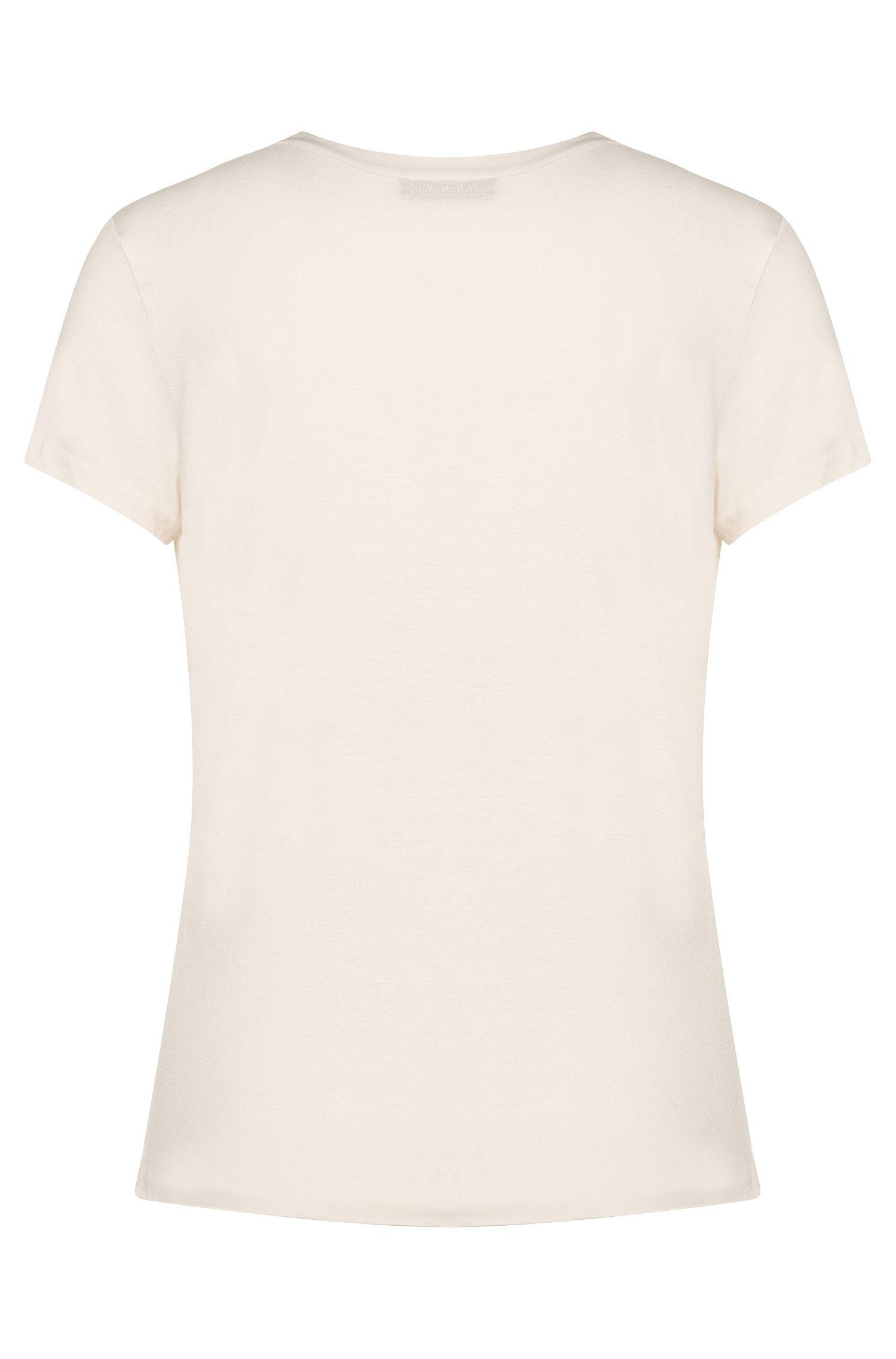 T-Shirt aus Stretch-Seide und Stretch-Viskose: 'Nisilki'