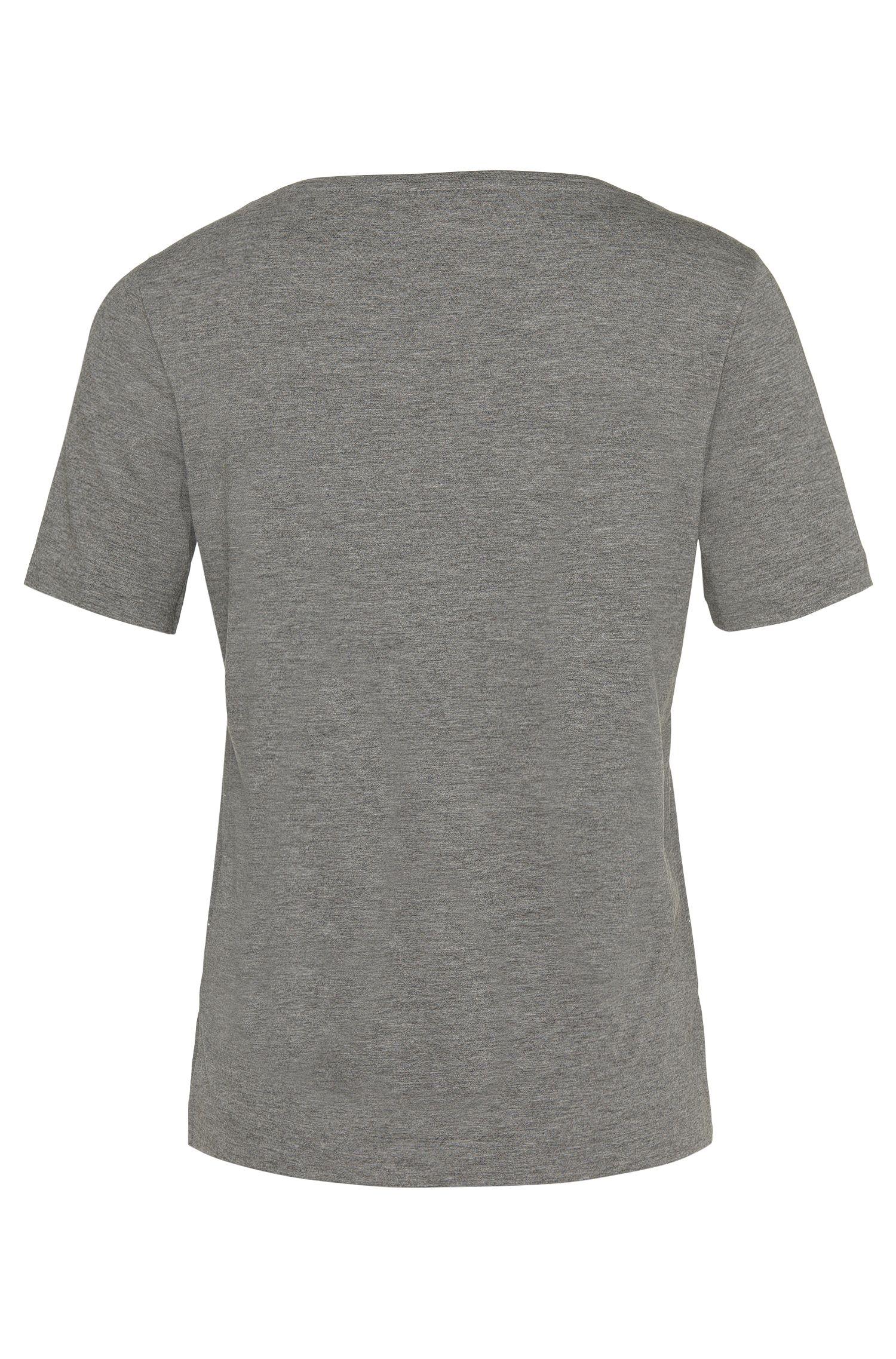T-Shirt aus Baumwoll-Mix mit Nieten in Silber-Optik: 'Nastina'