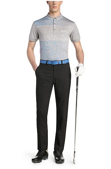 Golf-Polo aus elastischer Baumwolle: ´Paddy MK 3`, Hellgrau
