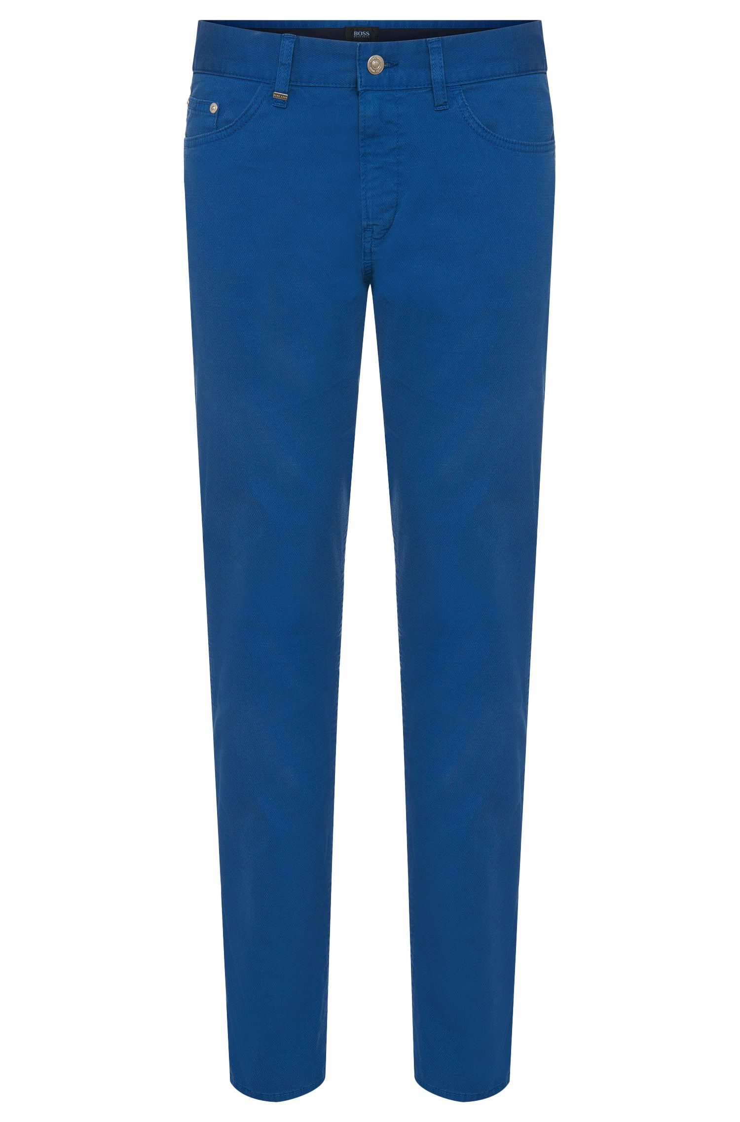 Slim-fit jeans in textured stretch cotton: 'Delaware4-20'