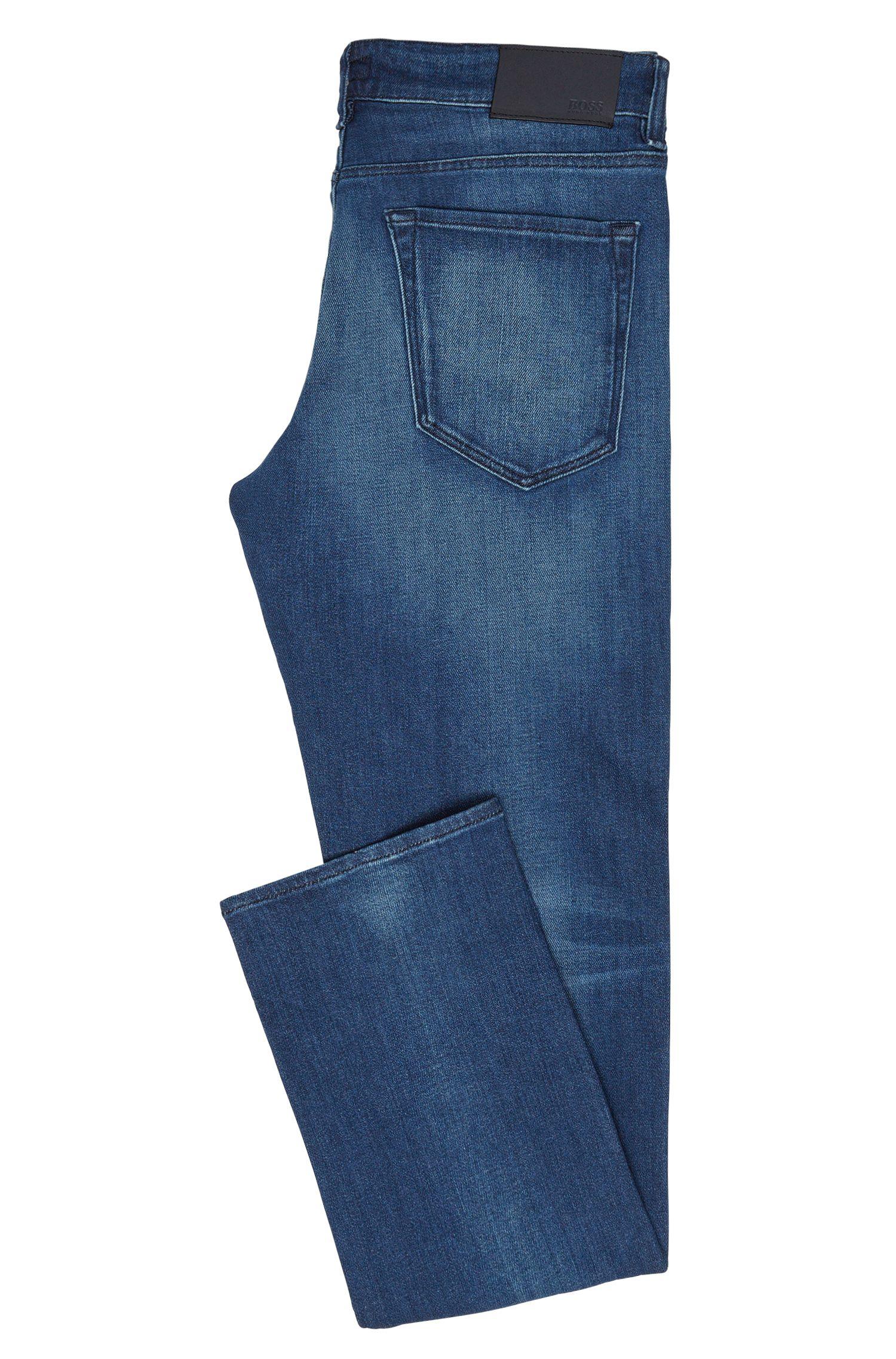 Jeans Regular Fit en coton stretch à effets délavés usés: «Maine3»