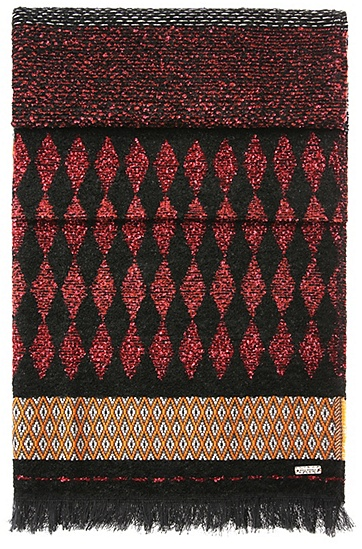 Patterned scarf in jacquard: 'Nancy', Patterned