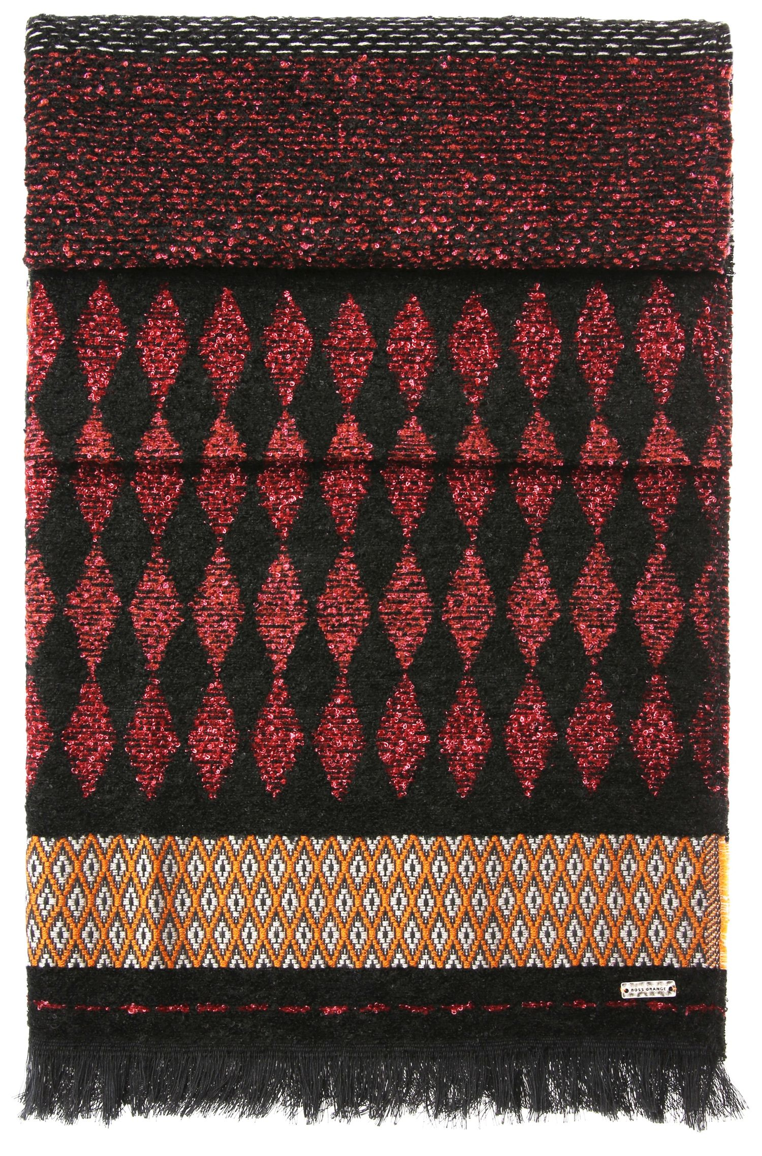 Patterned scarf in jacquard: 'Nancy'