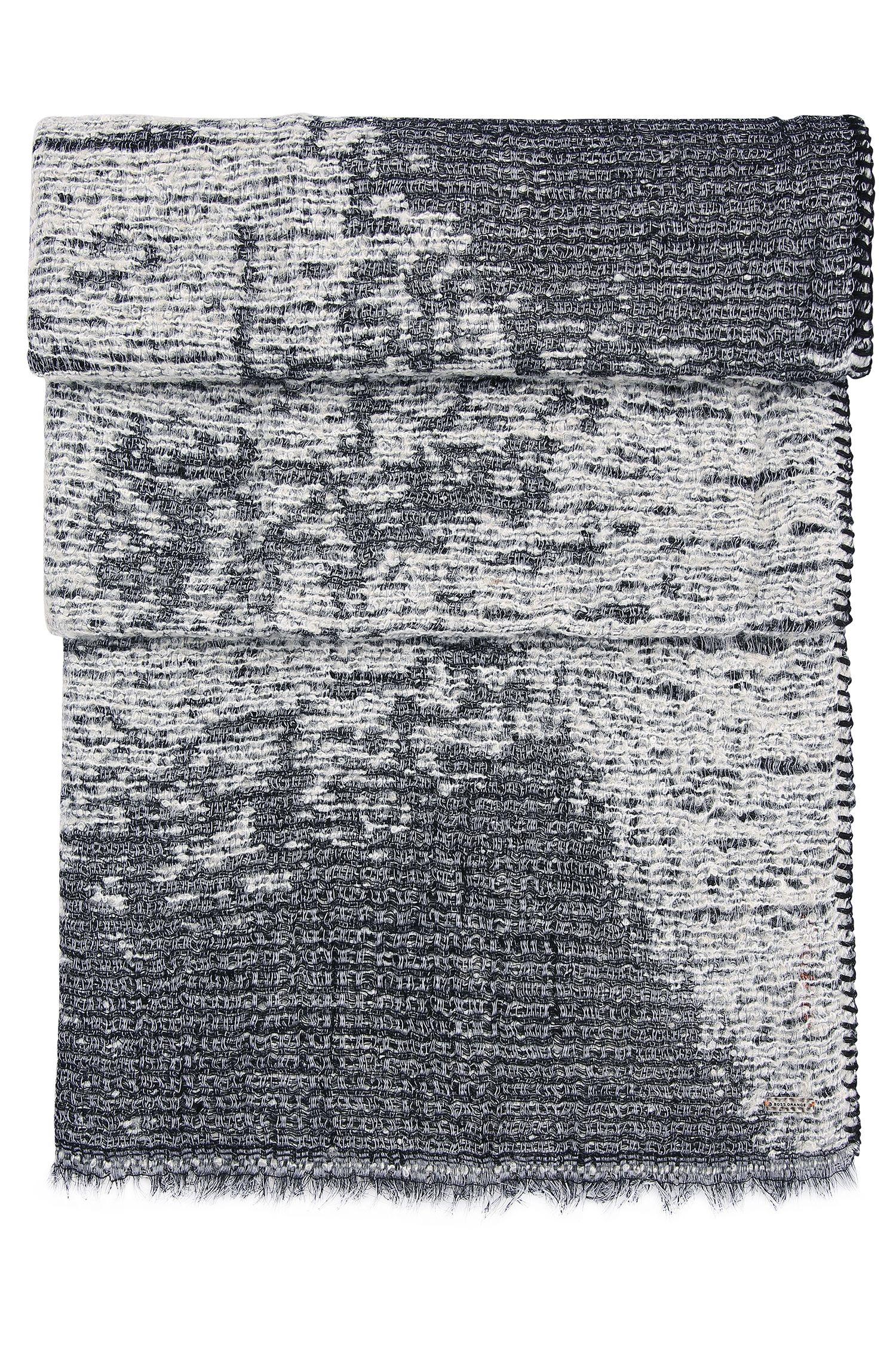 Geweven sjaal van linnen: 'Nablancka'