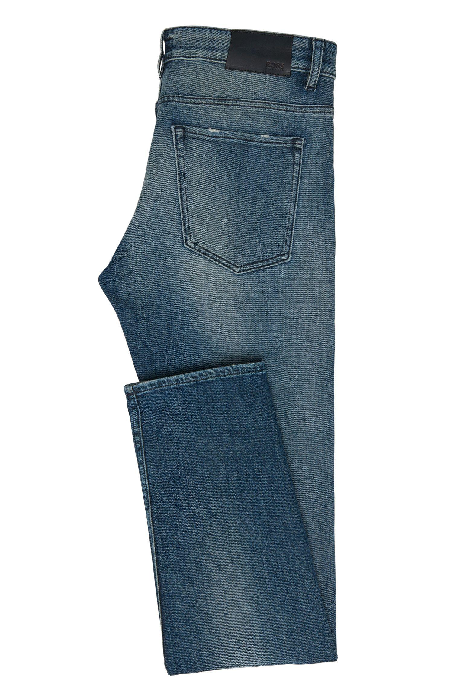 Slim-fit jeans van stretchkatoen met used-wassingen: 'Delaware3'