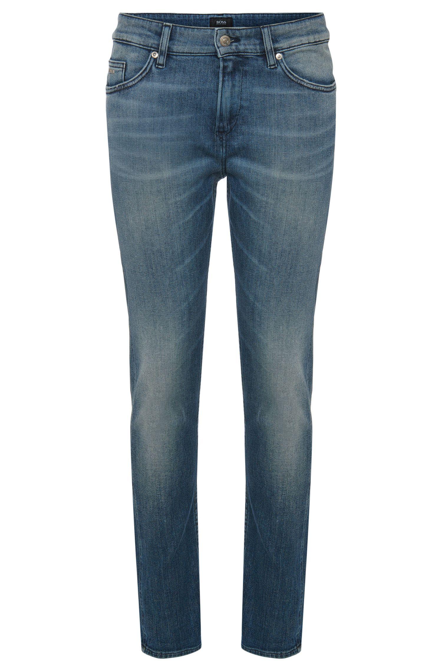 Slim-Fit Jeans aus Stretch-Baumwolle mit Used-Waschungen: 'Delaware3'