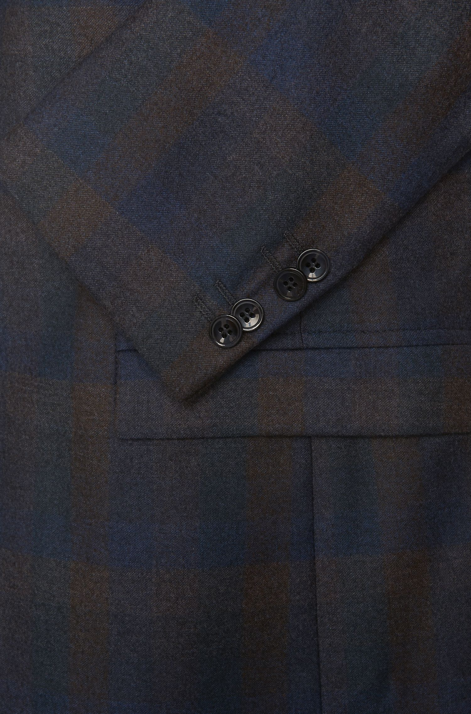 Veste de costume Regular Fit en laine vierge imprimée: «Arelto»